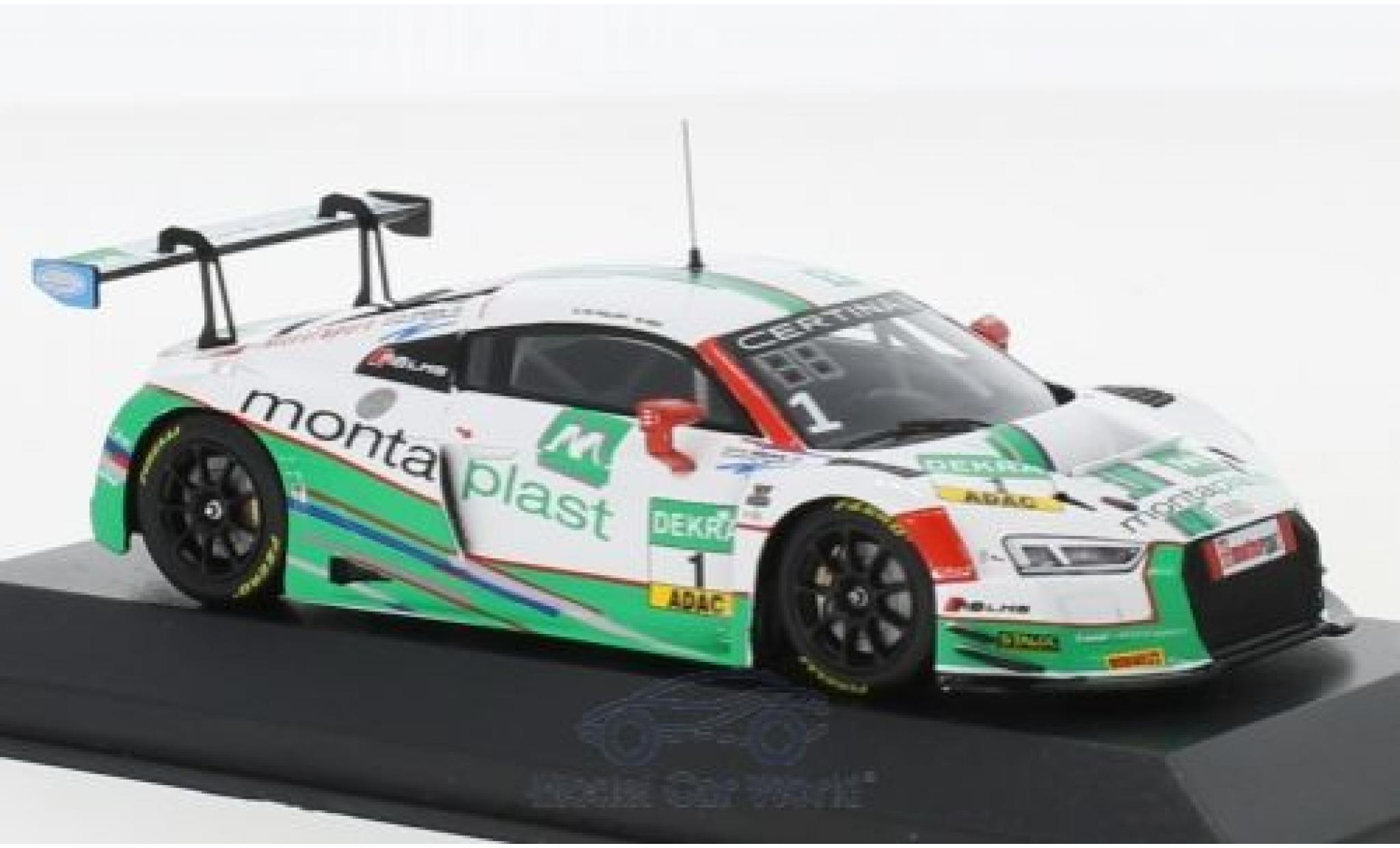 Audi R8 1/43 Minichamps LMS No.1 Montaplast by Land-Motorsport ADAC GT Masters 2017 C.de Phillippi/C.Mies