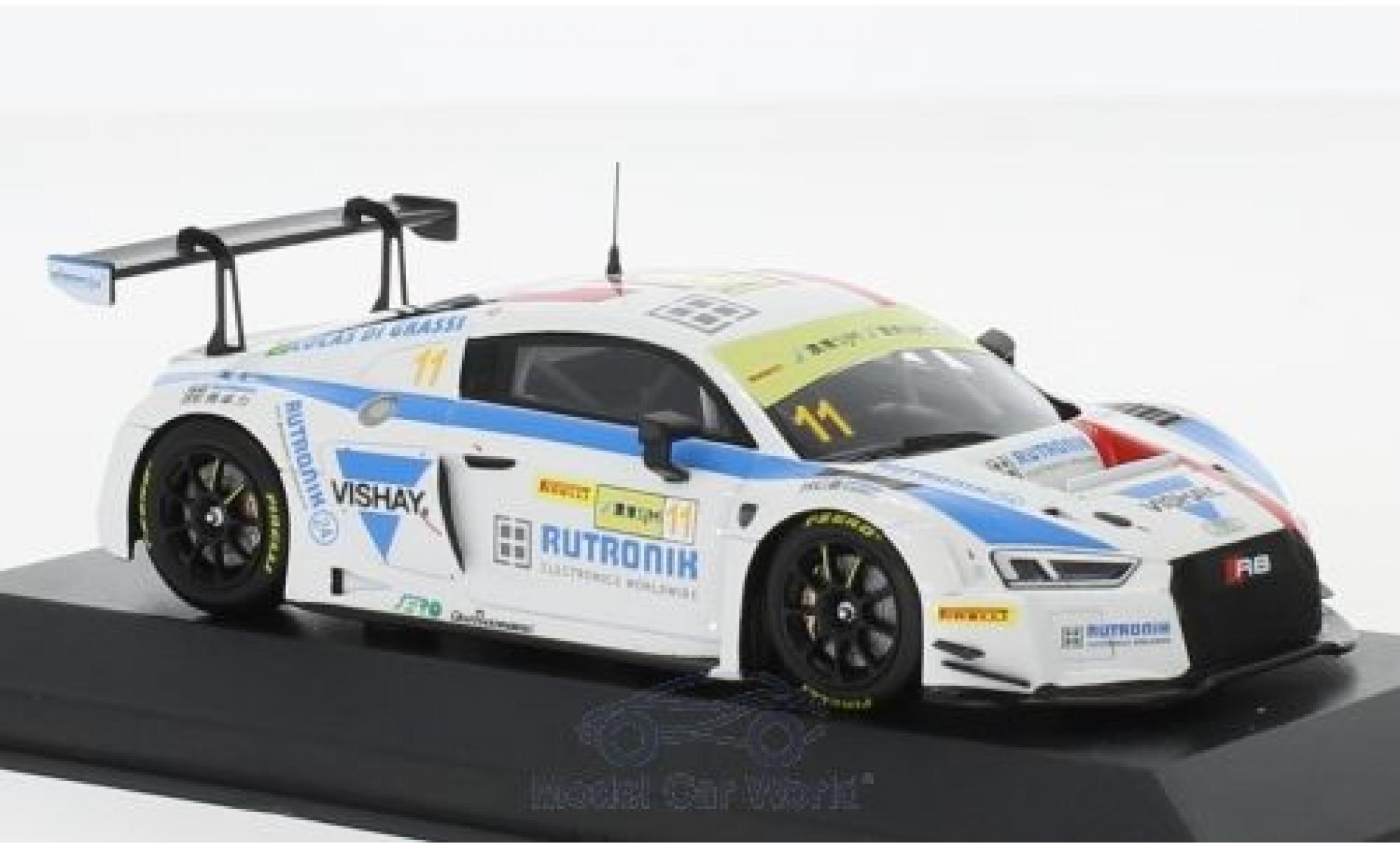 Audi R8 1/43 Minichamps LMS No.11 HCB-Rutronik-Racing Fia GT World Cup GT Cup Macau 2017 L.di Grassi