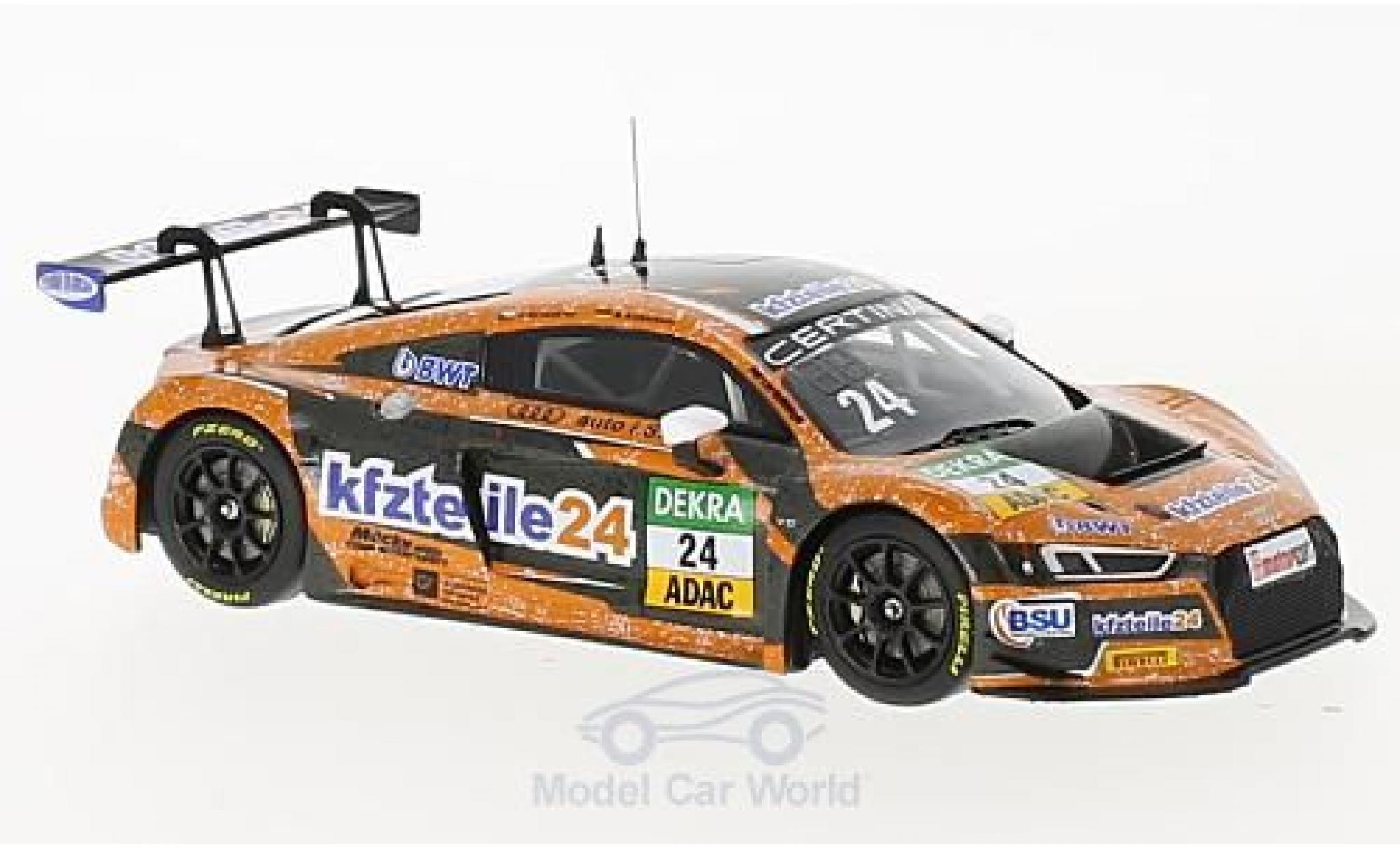 Audi R8 1/43 Minichamps LMS No.24 BWT Mücke Motorsport Kfzteile24 ADAC GT Masters 2017 F.Salaquarda/M.Winkelhock