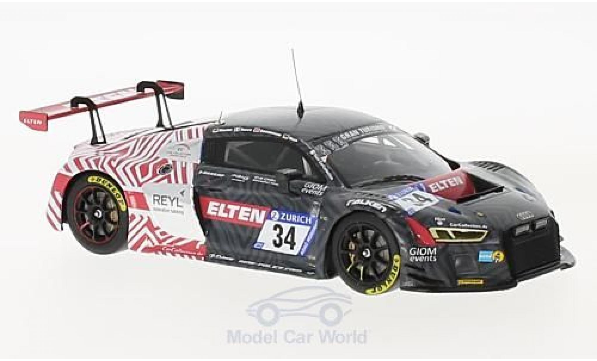 Audi R8 1/43 Minichamps LMS No.34 Car Collection Motorsport 24h Nürburgring 2017 R.Saurenmann/L.Rocco/K.Koch/J-E.Slooten