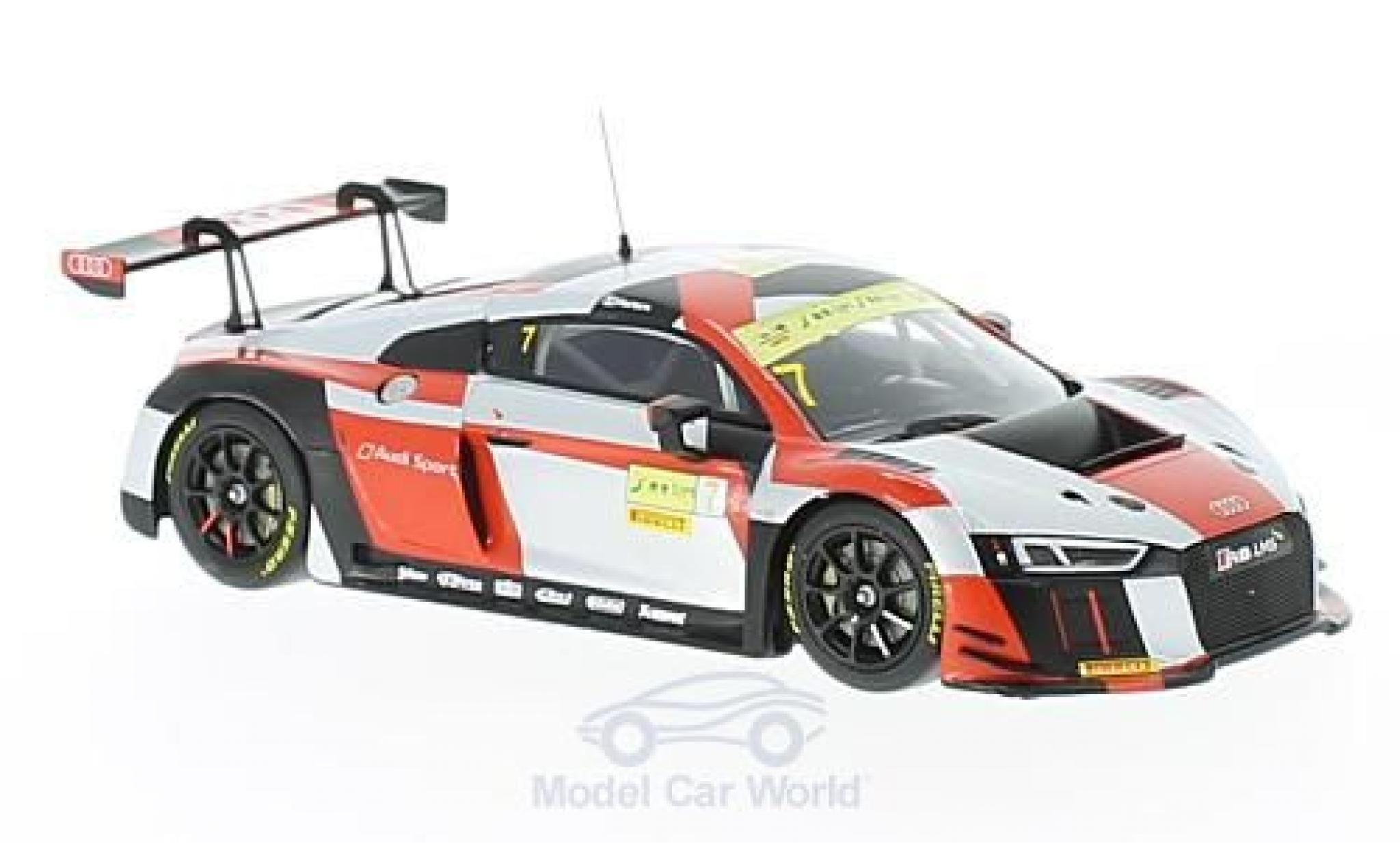 Audi R8 1/43 Minichamps LMS No.7 Sport Team WRT Fia GT World Cup Macau 2016 E.Mortara