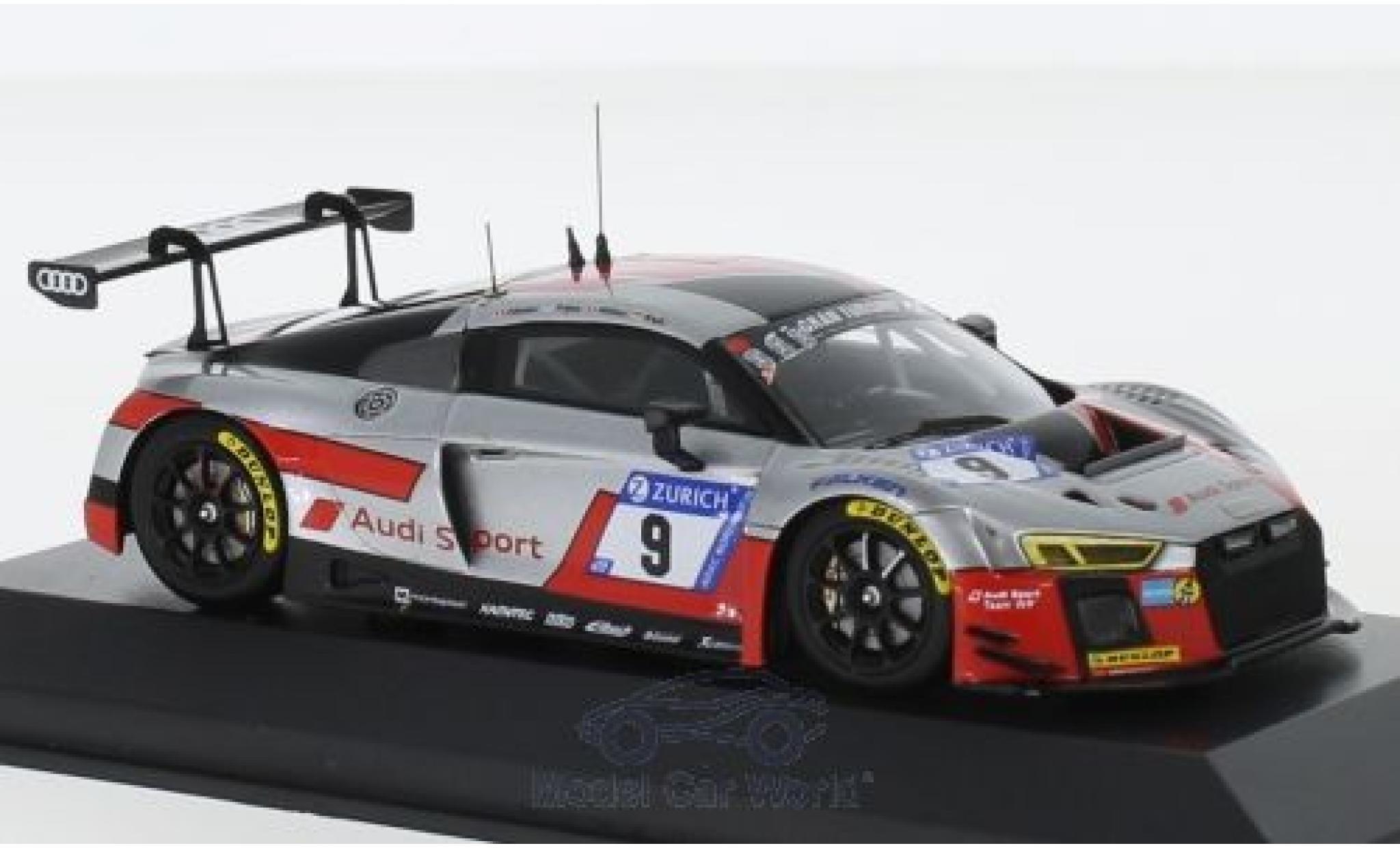 Audi R8 1/43 Minichamps LMS No.9 Sport Team WRT 24h Nürburgring 2017 N.Müller/M.Fässler/R.Frijns/R.Rast