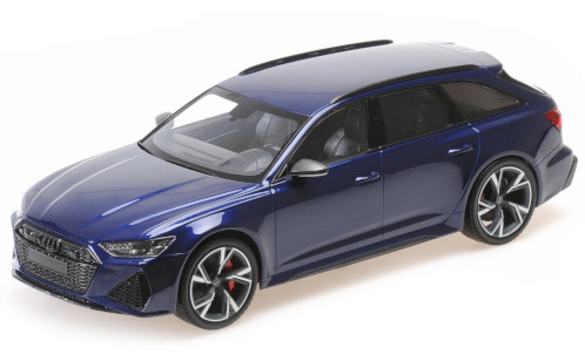 Audi RS6 1/43 Minichamps Avant (C8) metallise blue 2019