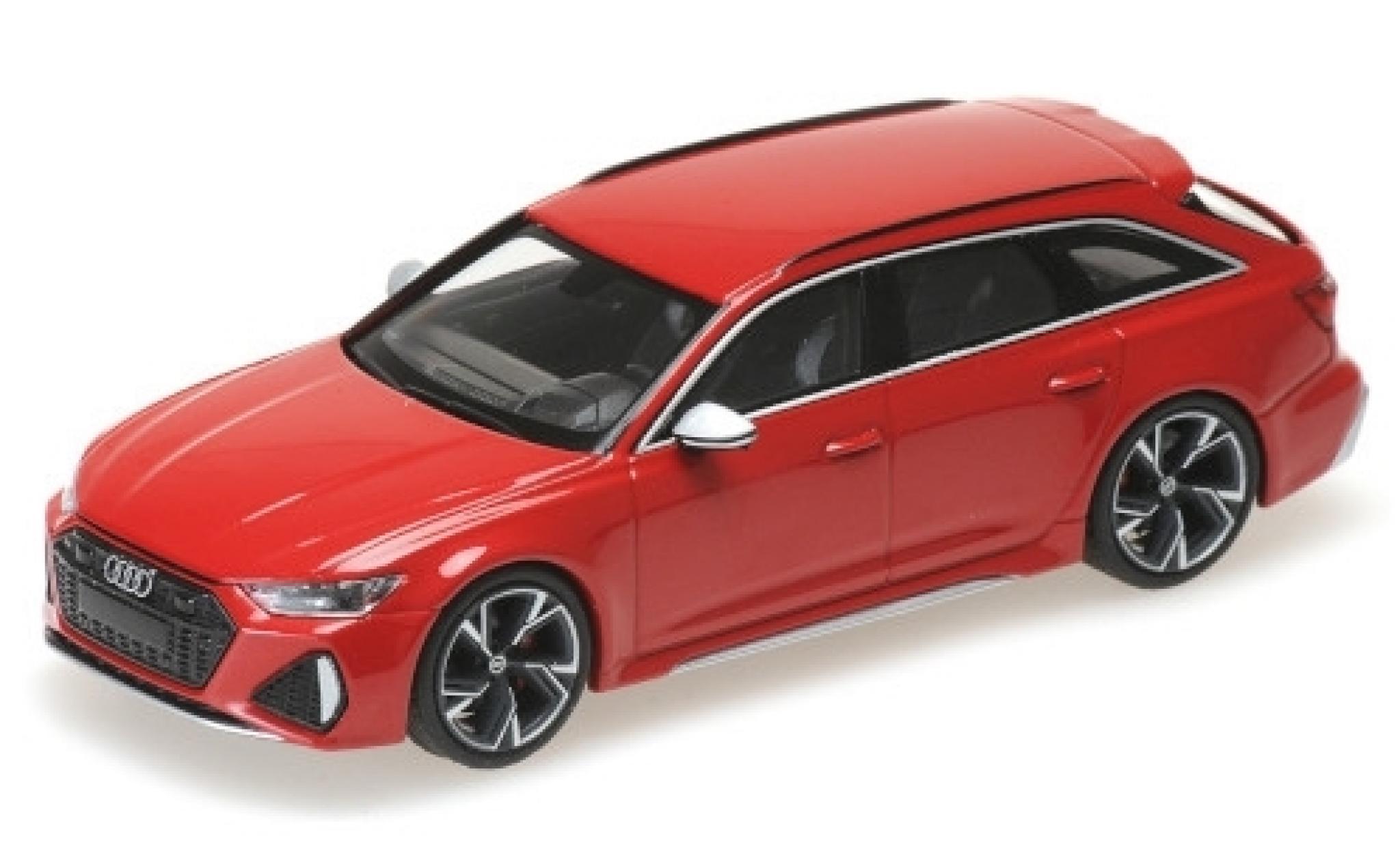 Audi RS6 1/43 Minichamps Avant (C8) metallise red 2019