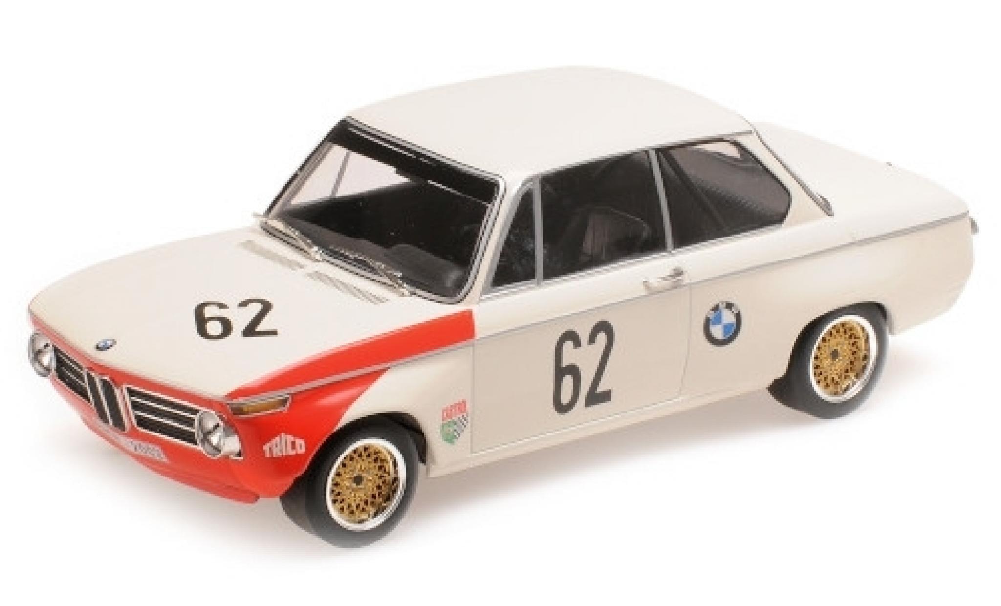 Bmw 2002 1/18 Minichamps tiK No.62 AG Guards International Trophy Brands Hatch 1969 A.Hahne/D.Quester