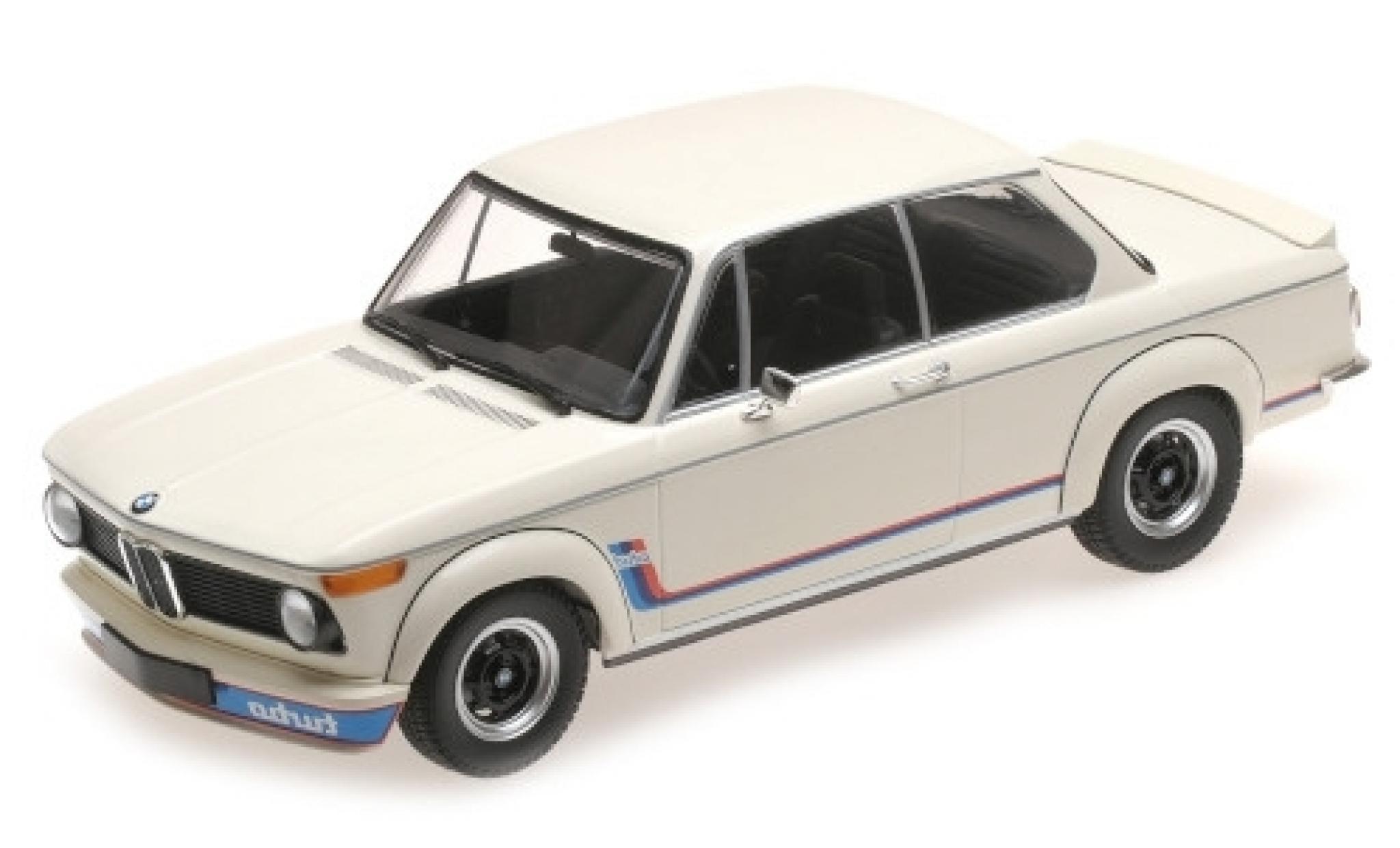 Bmw 2002 1/18 Minichamps Turbo blanche/Dekor 1973