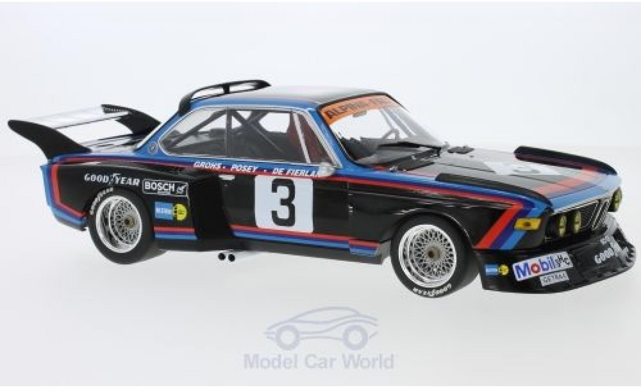 Bmw 3.5 1/18 Minichamps BMW CSL No.3 Alpina - Faltz BMW 6h Silverstone 1976 H.de Fierlant/H.Grohs