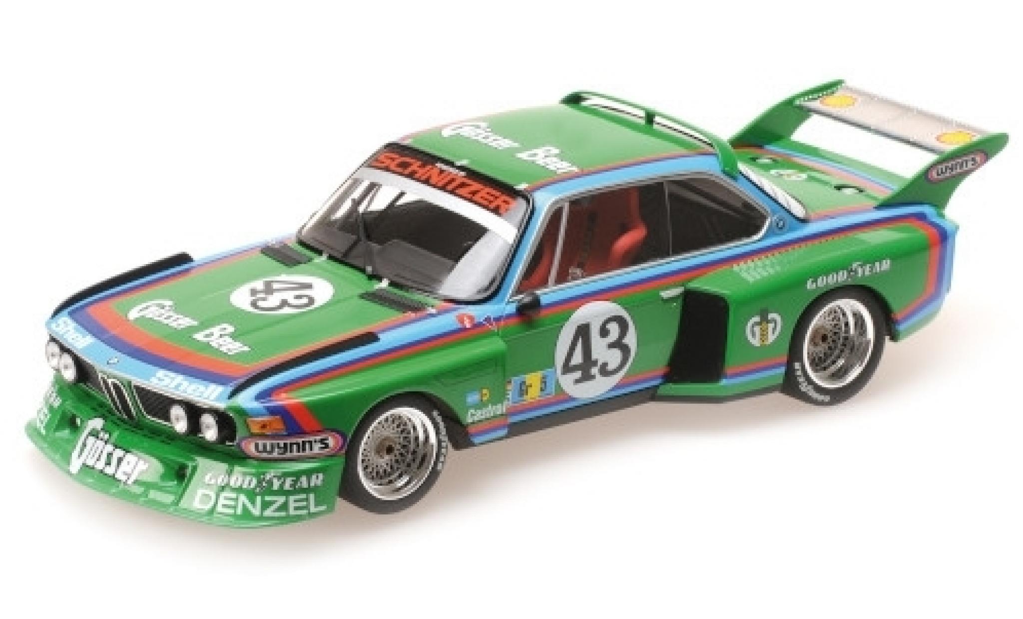 Bmw 3.5 1/18 Minichamps CSL No.43 -Schnitzer Gösser Beer 24h Le Mans 1976 D.Quester/A.Krebs/A.Peltier