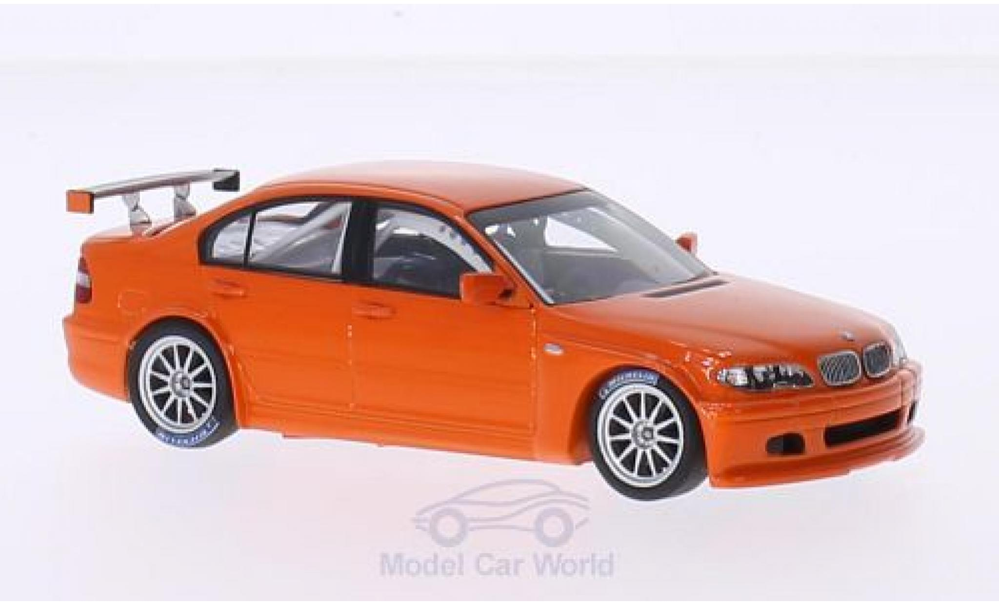 Bmw 320 E46 1/43 Minichamps BMW i (E46/4) orange 2005 Plain Body Version