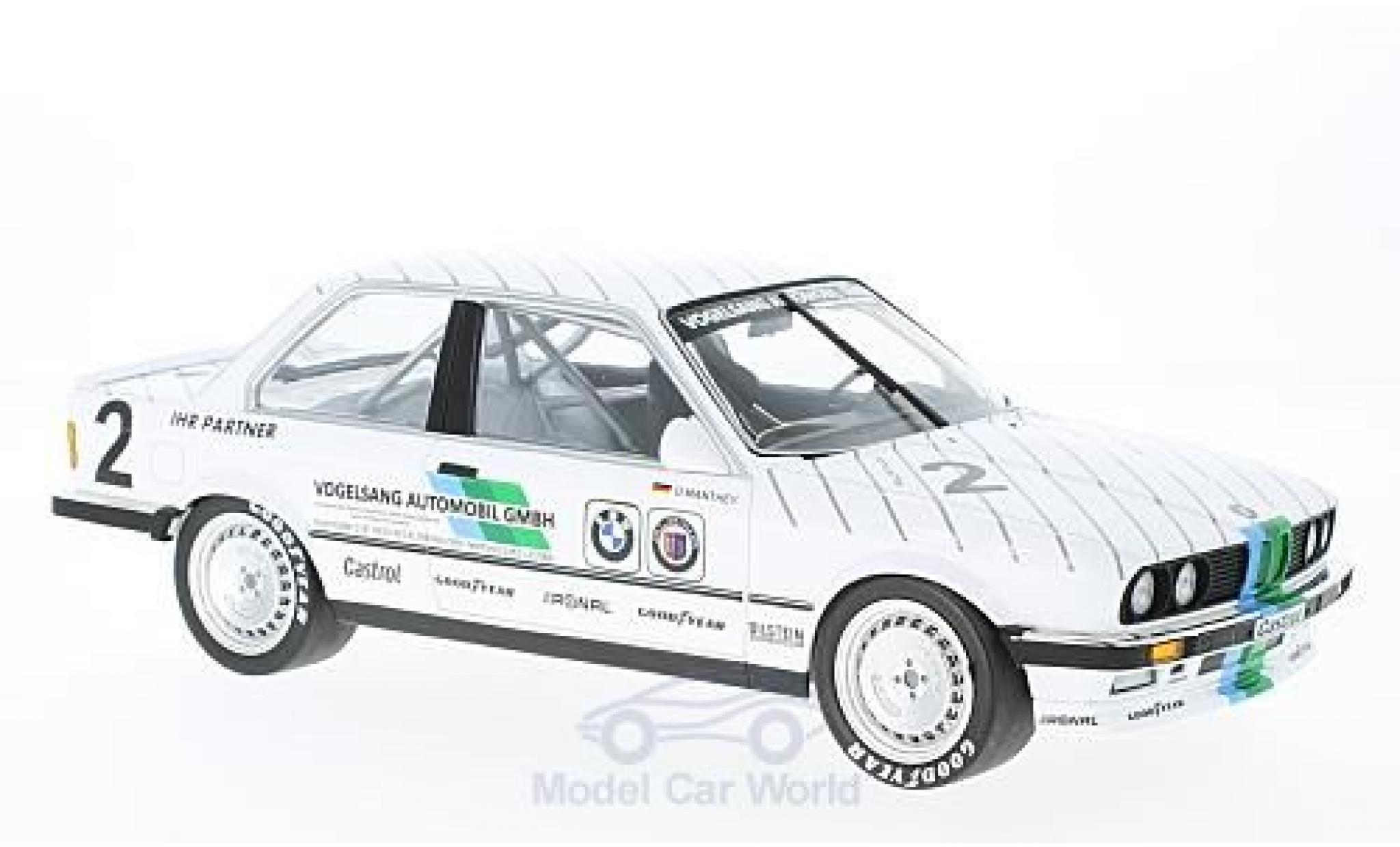 Bmw 325 1/18 Minichamps i No.2 Vogelsang Automobile DTM ADAC Eifelrennen 1986 O.Manthey