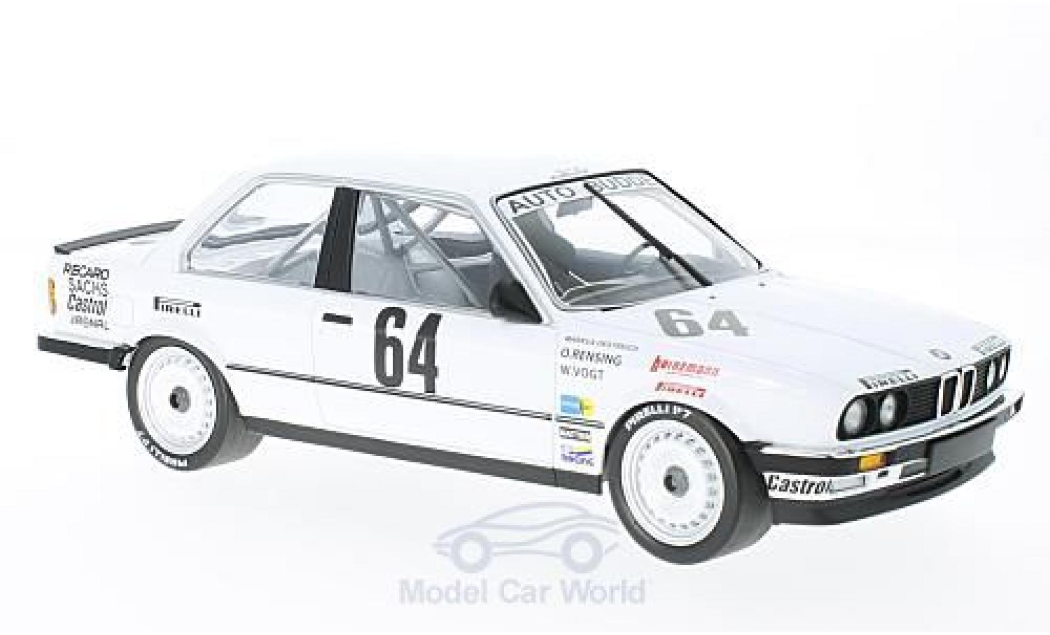 Bmw 325 1/18 Minichamps BMW i No.64 Auto Budde Team 24h Nürburgring 1986 M.Oestreich/O.Rensing/W.Vogt