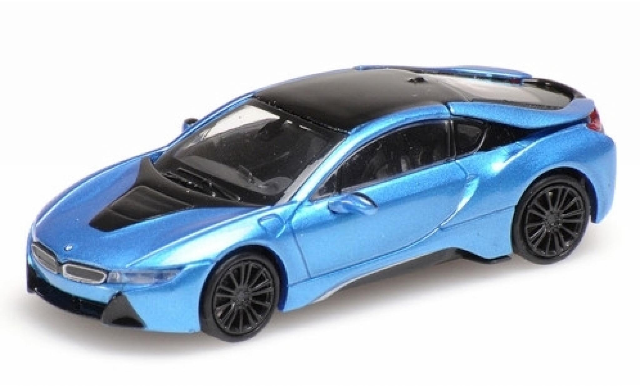 Bmw i8 1/87 Minichamps Coupe metallise bleue 2015