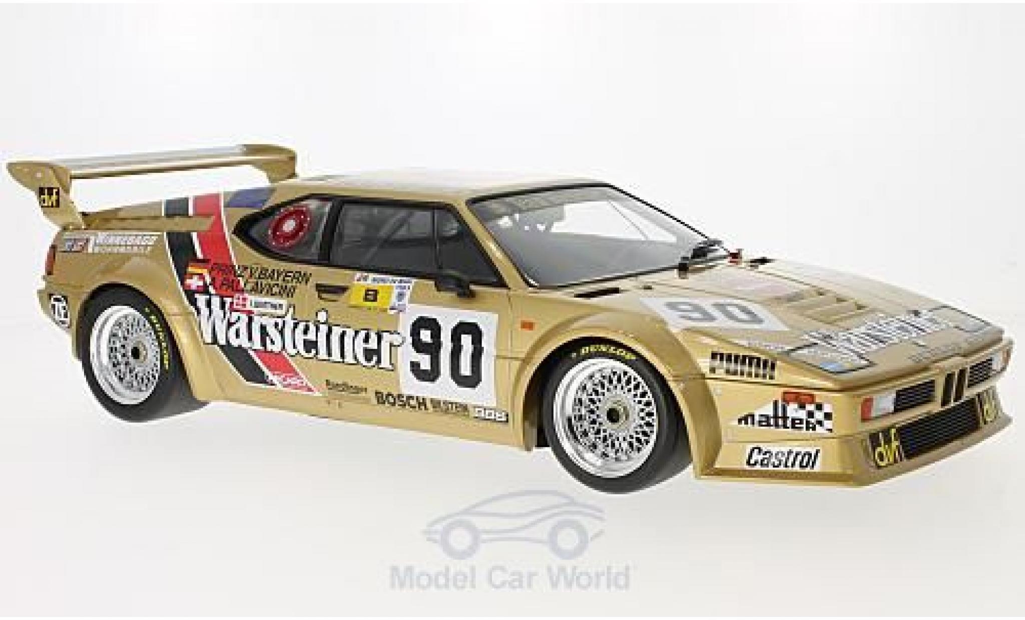 Bmw M1 1983 1/12 Minichamps BMW Gr.B No.90 Team Warsteiner Warsteiner 24h Le Mans 1983 L.von Bayern/A.Pallavicini/J.Winther