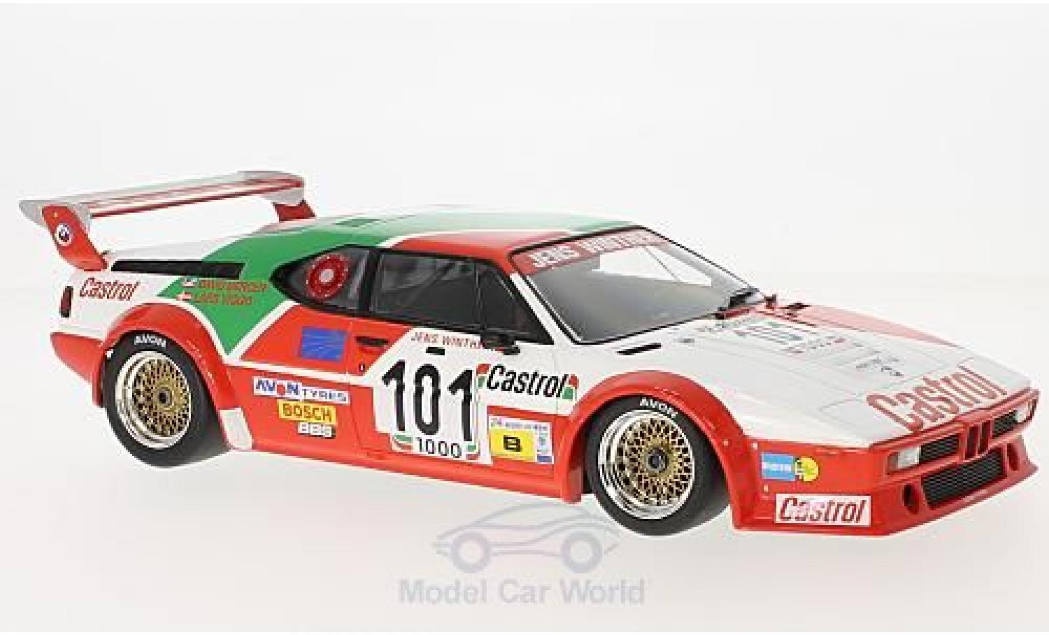 Bmw M1 1/18 Minichamps BMW No.101 Jens Winther Team Castrol 24h Le Mans 1984 J.Winther/D.Mercer/L-V.Jensen