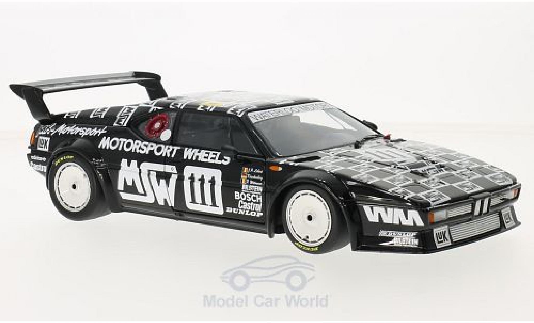 Bmw M1 1986 1/18 Minichamps BMW No.111 MK Motorsport MSW 24h Le Mans 1986 P.Witmeur/M.Krankenberg/J-P.Libert