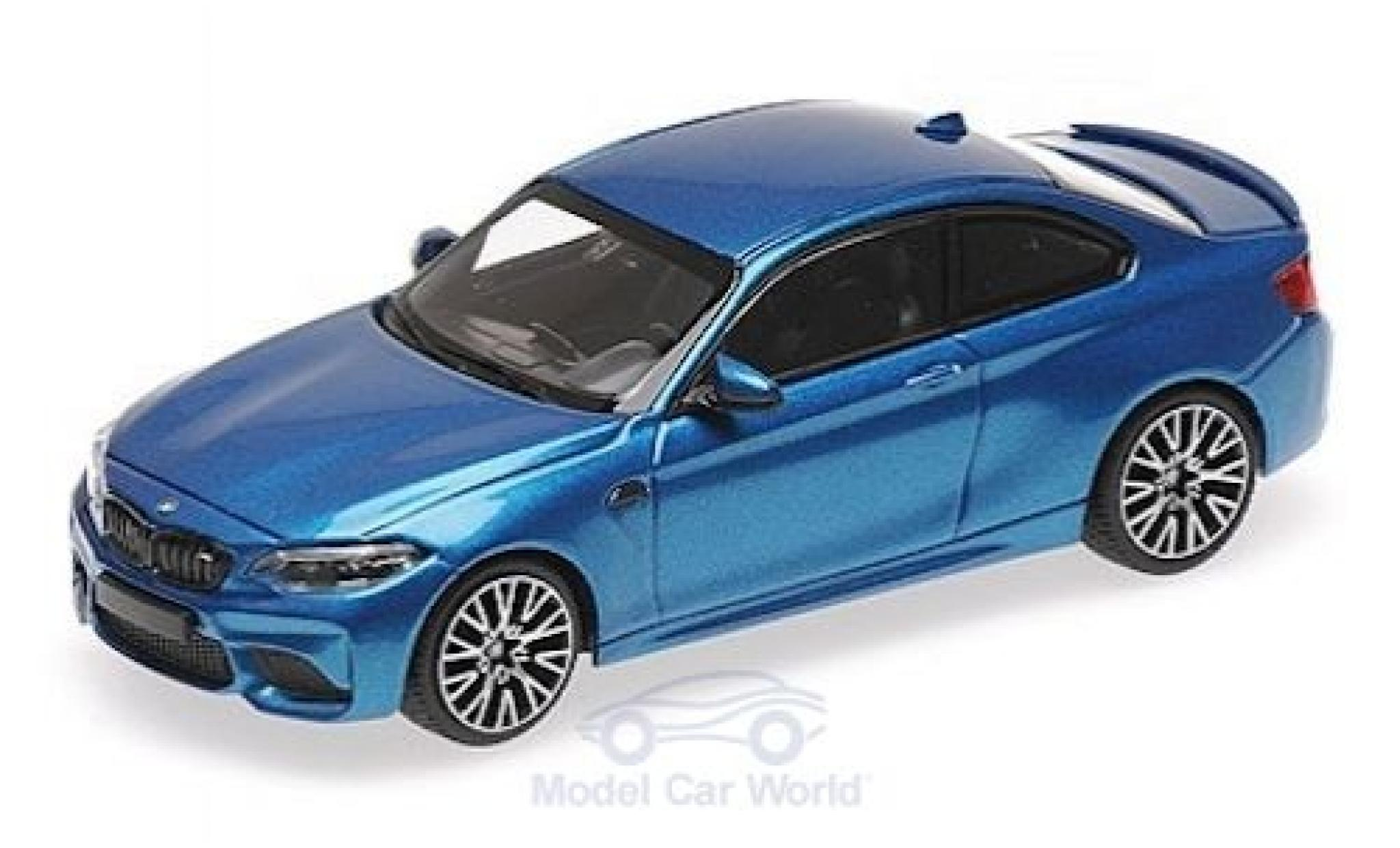 Bmw M2 1/43 Minichamps Competition metallise bleue 2019