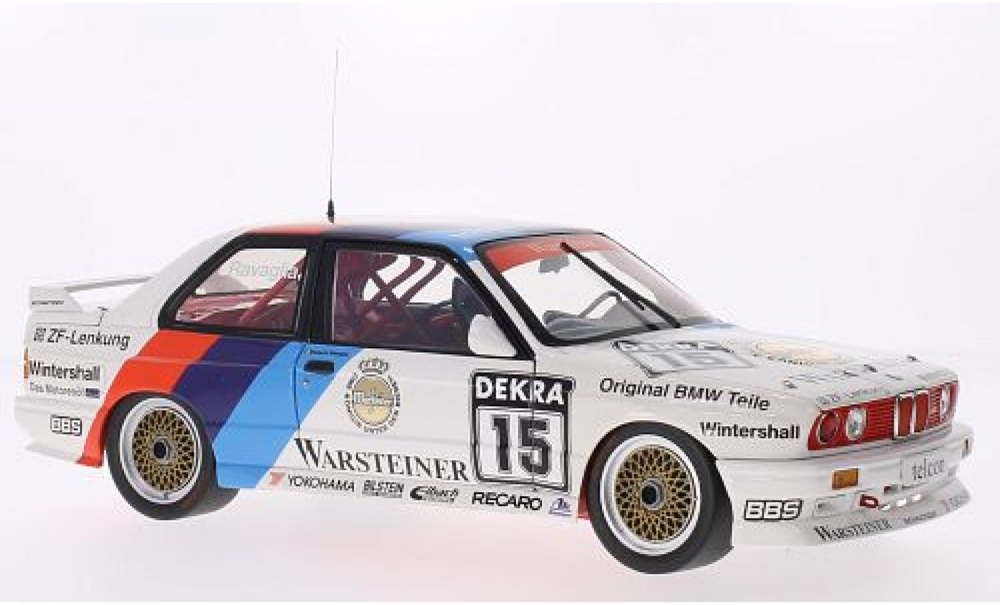 Bmw M3 1/18 Minichamps (E30) DTM No.15 Team Schnitzer Warsteiner DTM 1989 R.Ravaglia