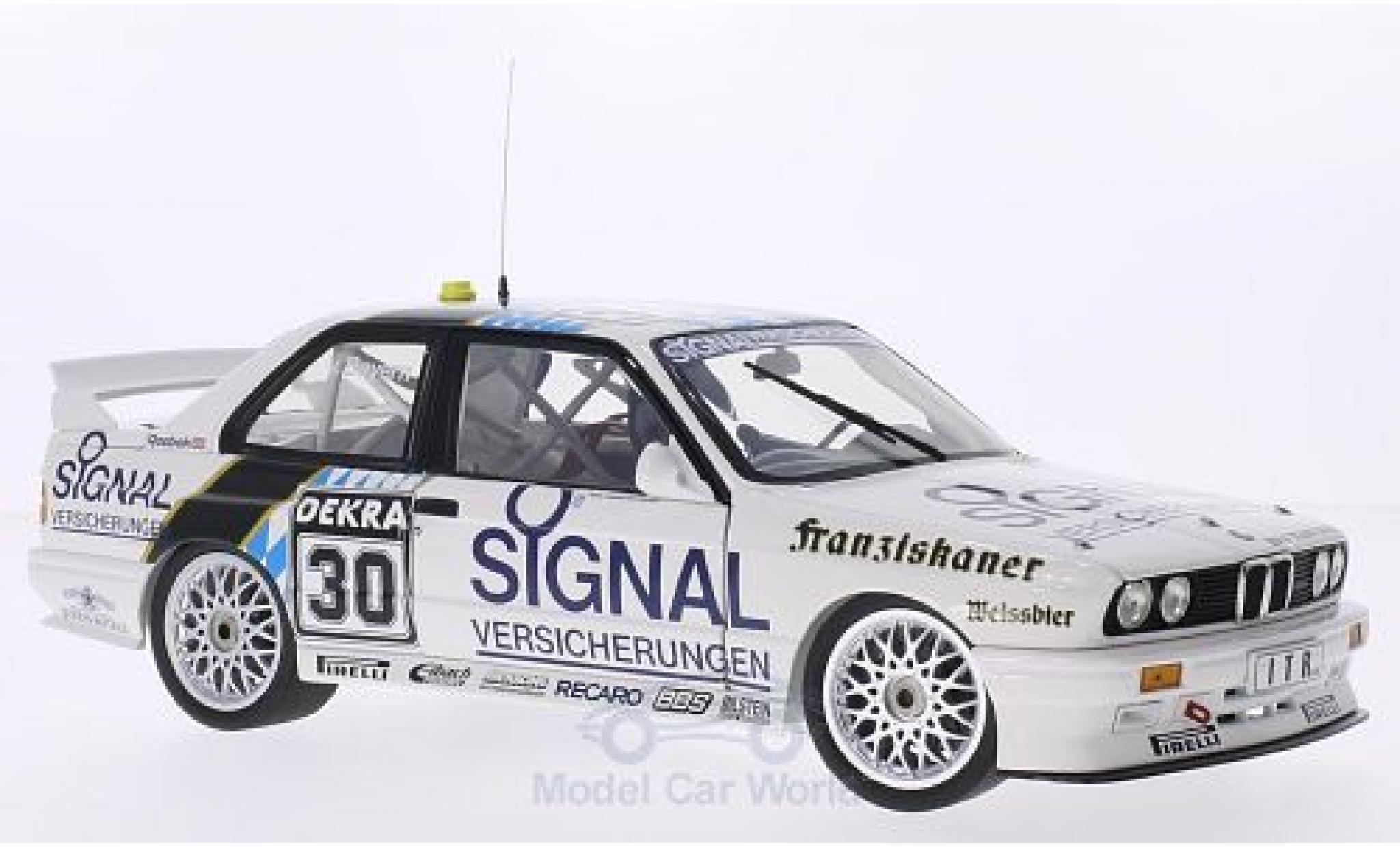 Bmw M3 E30 1/18 Minichamps BMW (E30) DTM No.30 Team Isert Signal Versicherungen DTM 1991 L.von Bayern