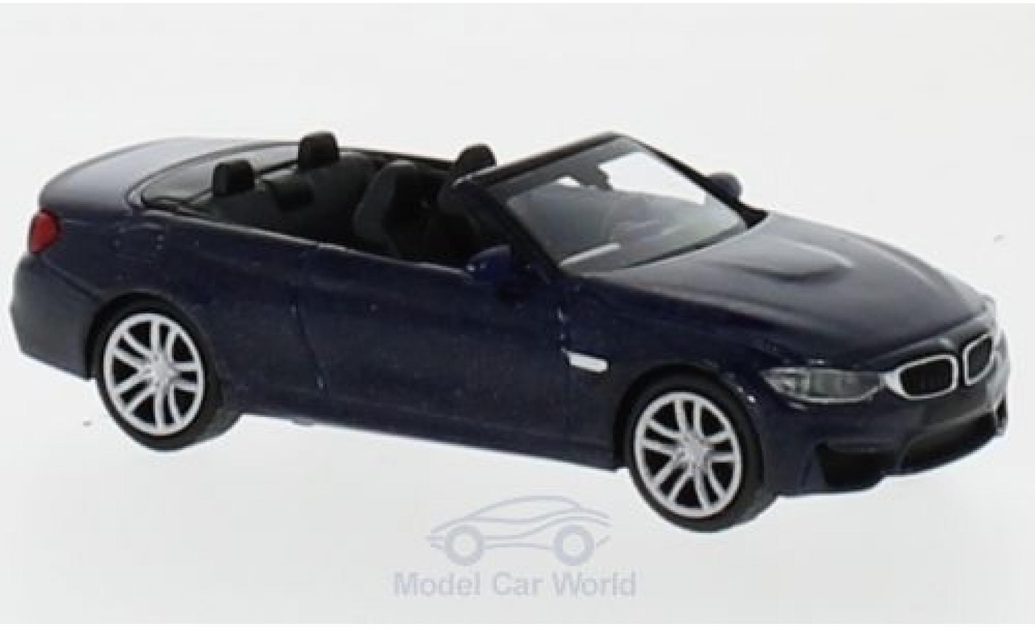 Bmw M4 1/87 Minichamps Cabrio métallisé bleue 2015