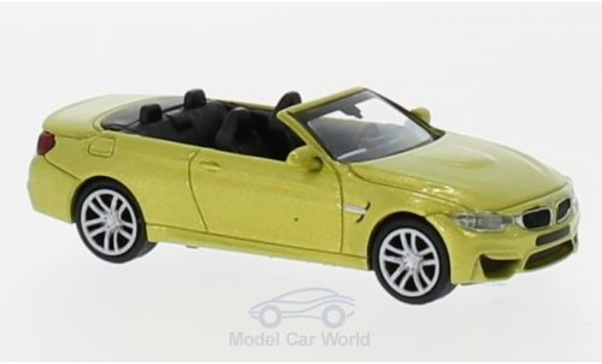 Bmw M4 1/87 Minichamps Cabriolet métallisé jaune 2015