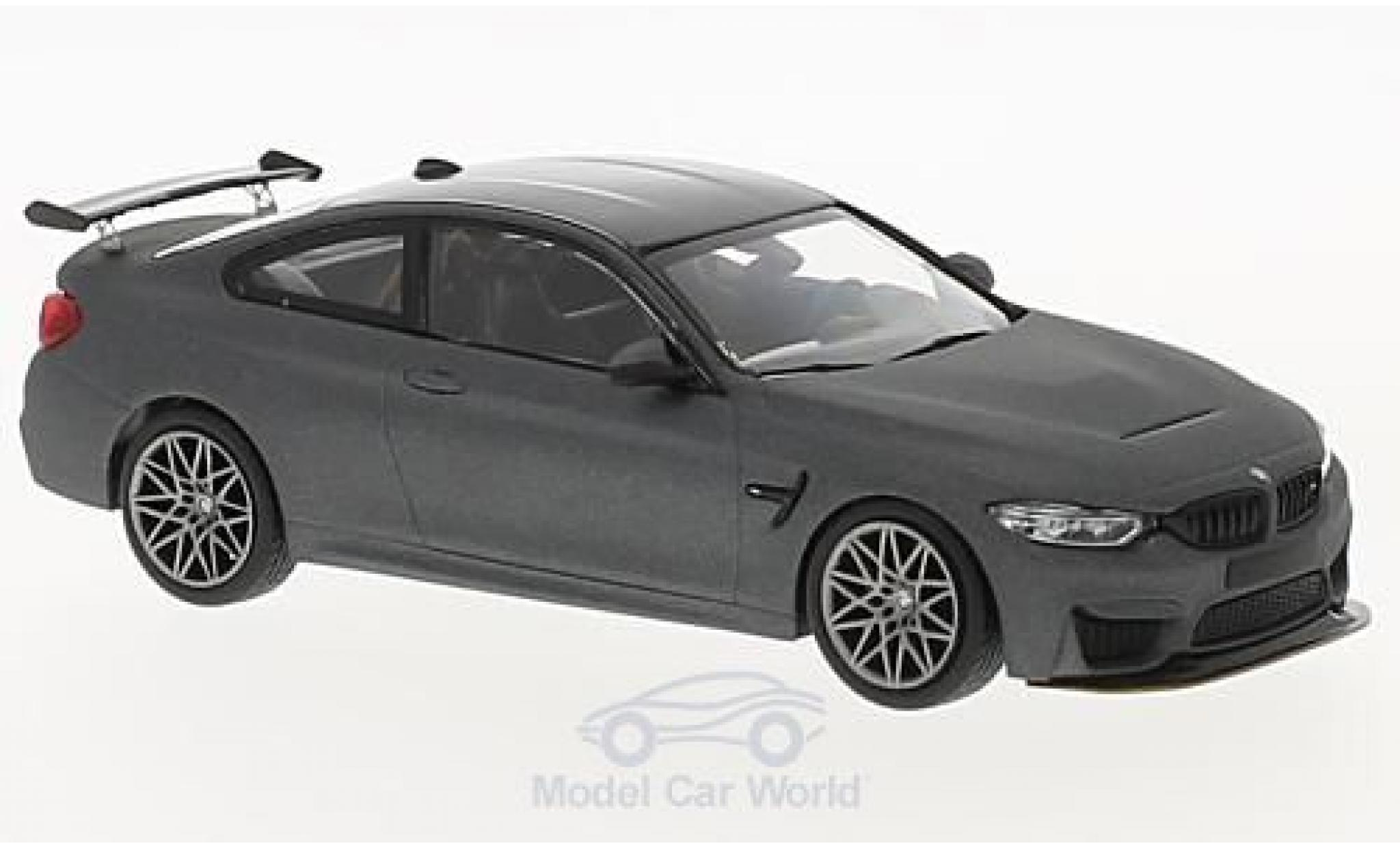 Bmw M4 1/43 Minichamps BMW (F82) GTS matt-grise 2016 mit griseen Felgen