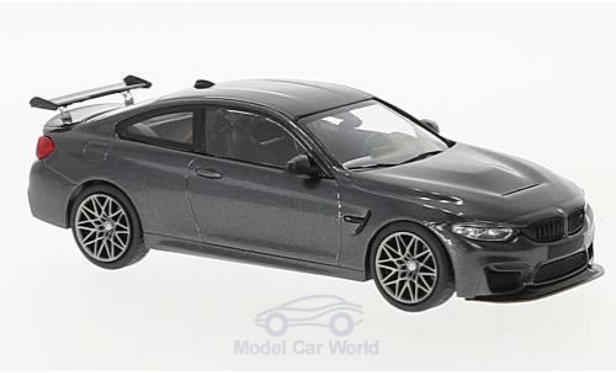 Bmw M4 1/43 Minichamps BMW (F82) GTS metallic-grise 2016 mit griseen Felgen