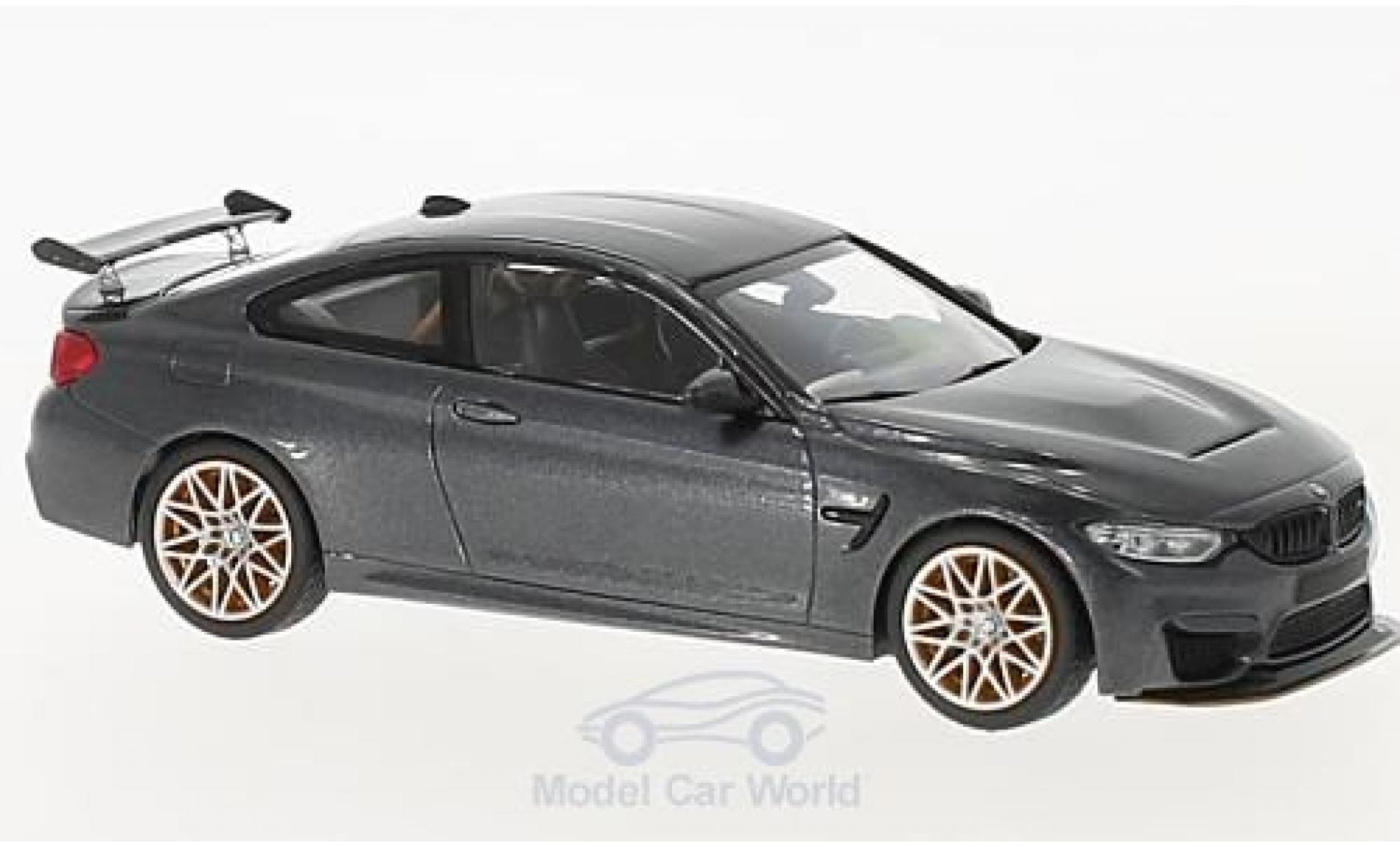 Bmw M4 1/43 Minichamps BMW (F82) GTS metallic-grise 2016 mit orangenen Felgen