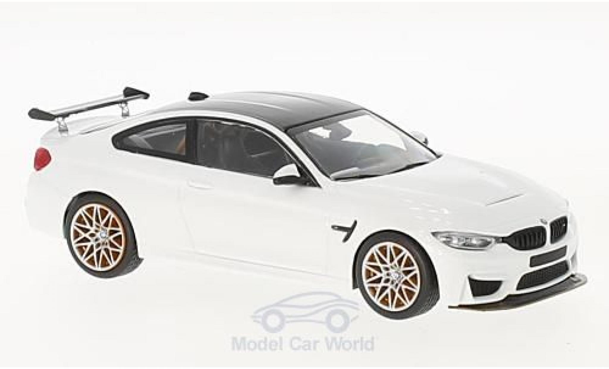Bmw M4 1/43 Minichamps BMW (F82) GTS blanche 2016 mit orangen Felgen