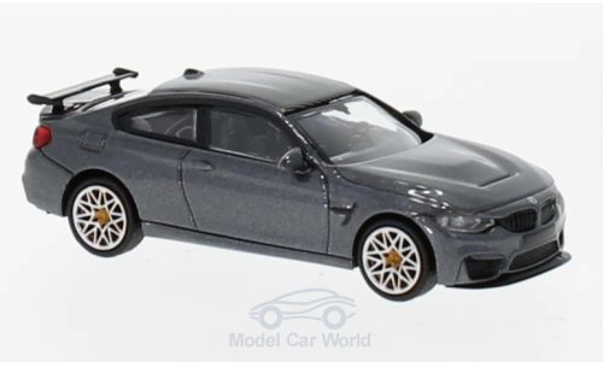 Bmw M4 1/87 Minichamps BMW GTS metallic-grise 2016 mit orangen Felgen