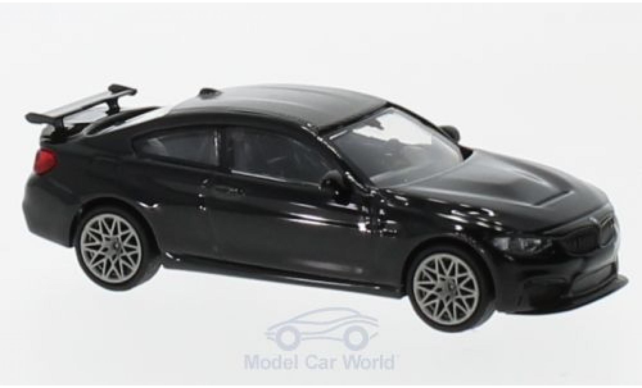 Bmw M4 1/87 Minichamps GTS metallise noire 2016 mit griseen Felgen