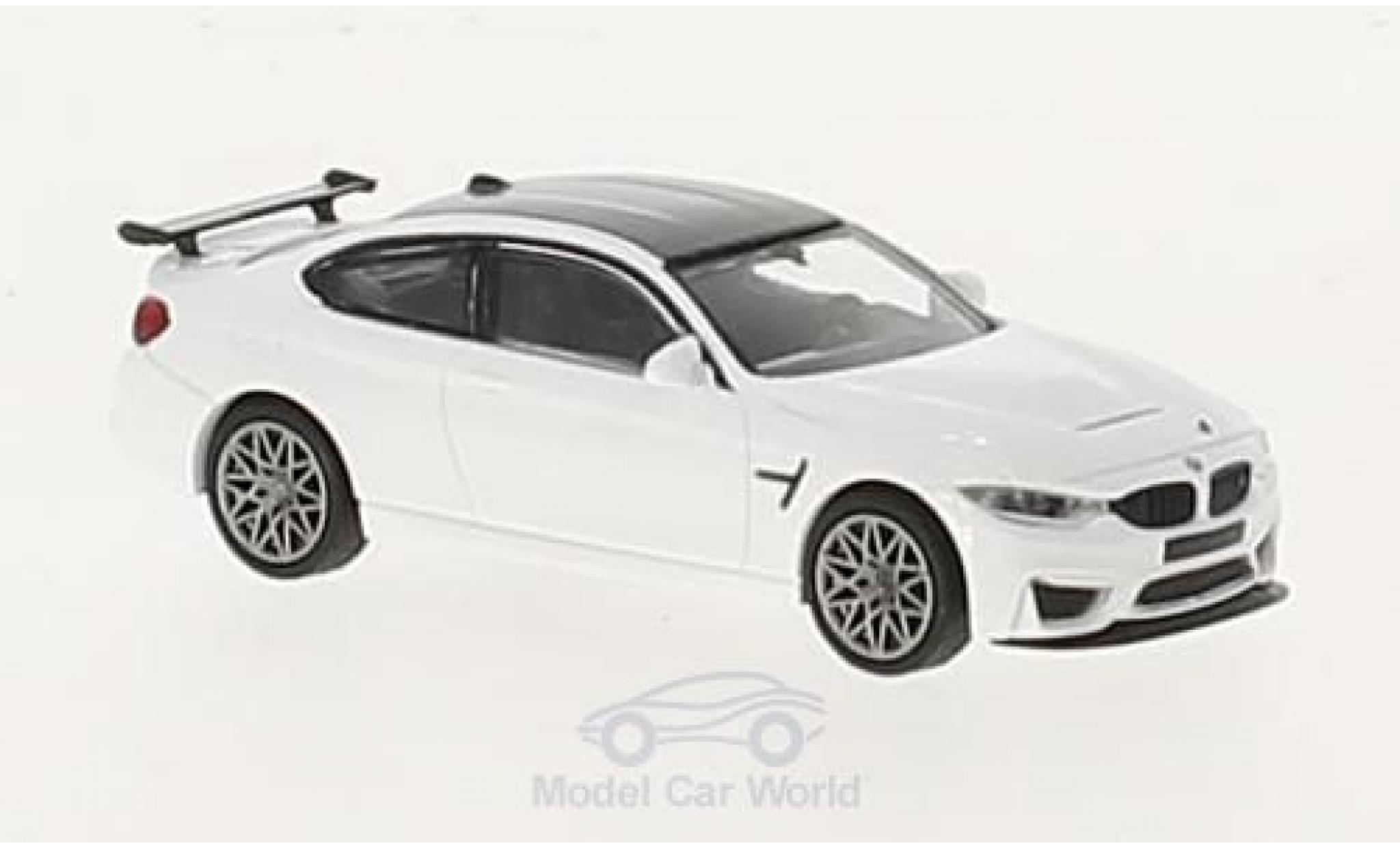 Bmw M4 1/87 Minichamps BMW GTS blanche 2016 mit griseen Felgen