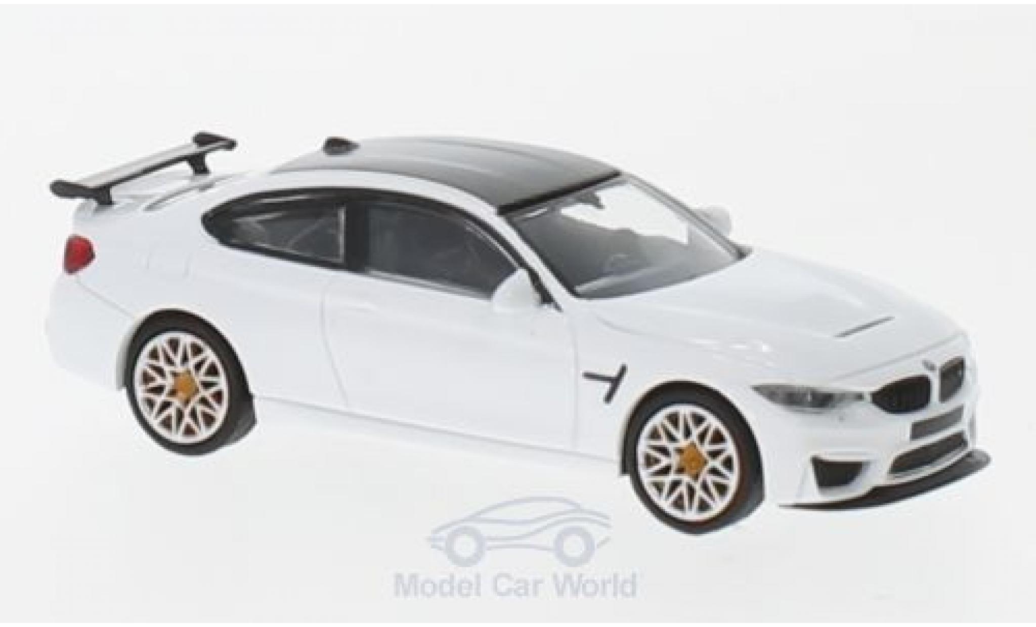 Bmw M4 1/87 Minichamps BMW GTS blanche 2016 mit orangen Felgen