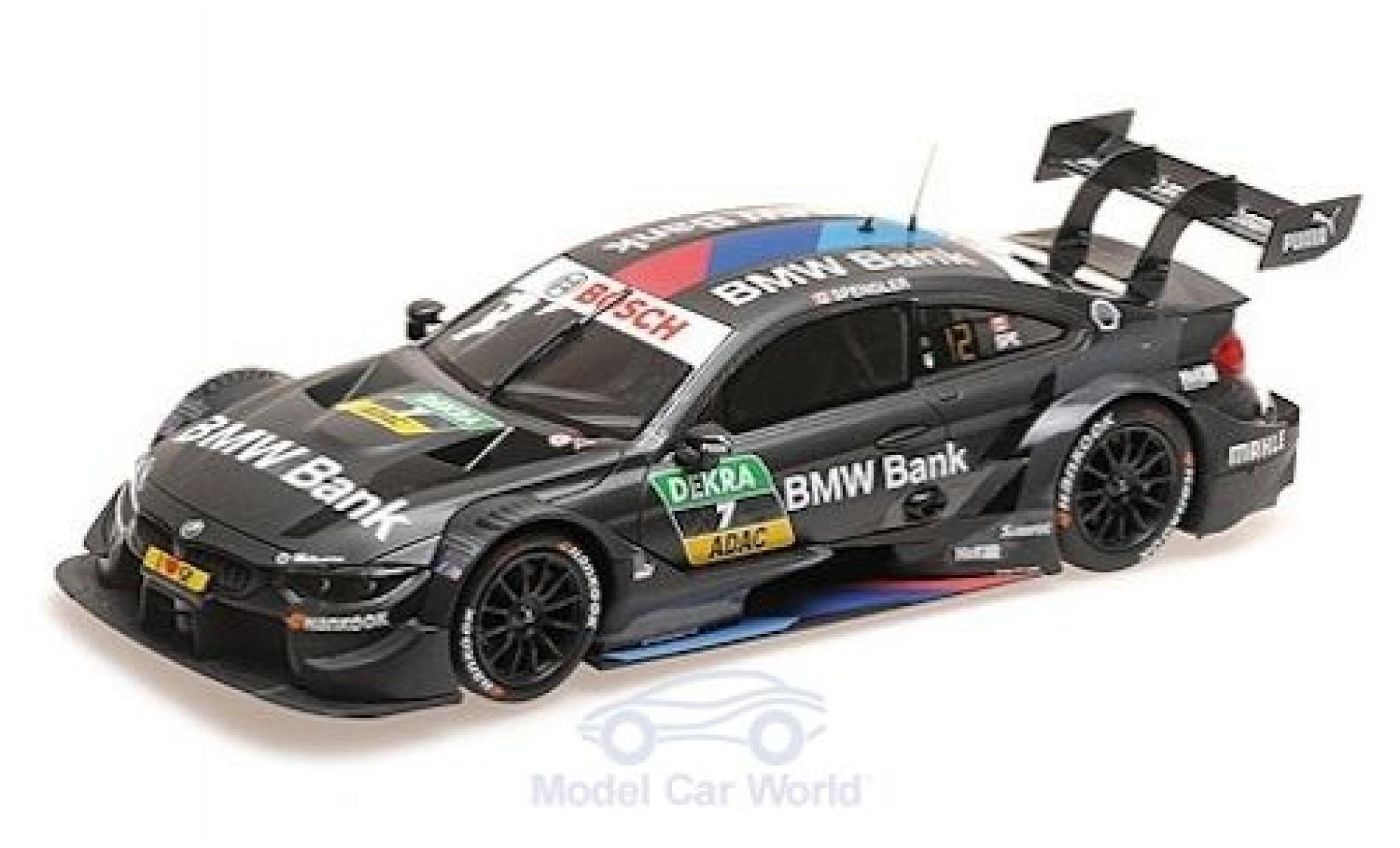 Bmw M4 1/18 Minichamps No.7 Team RBM DTM 2018 B.Spengler