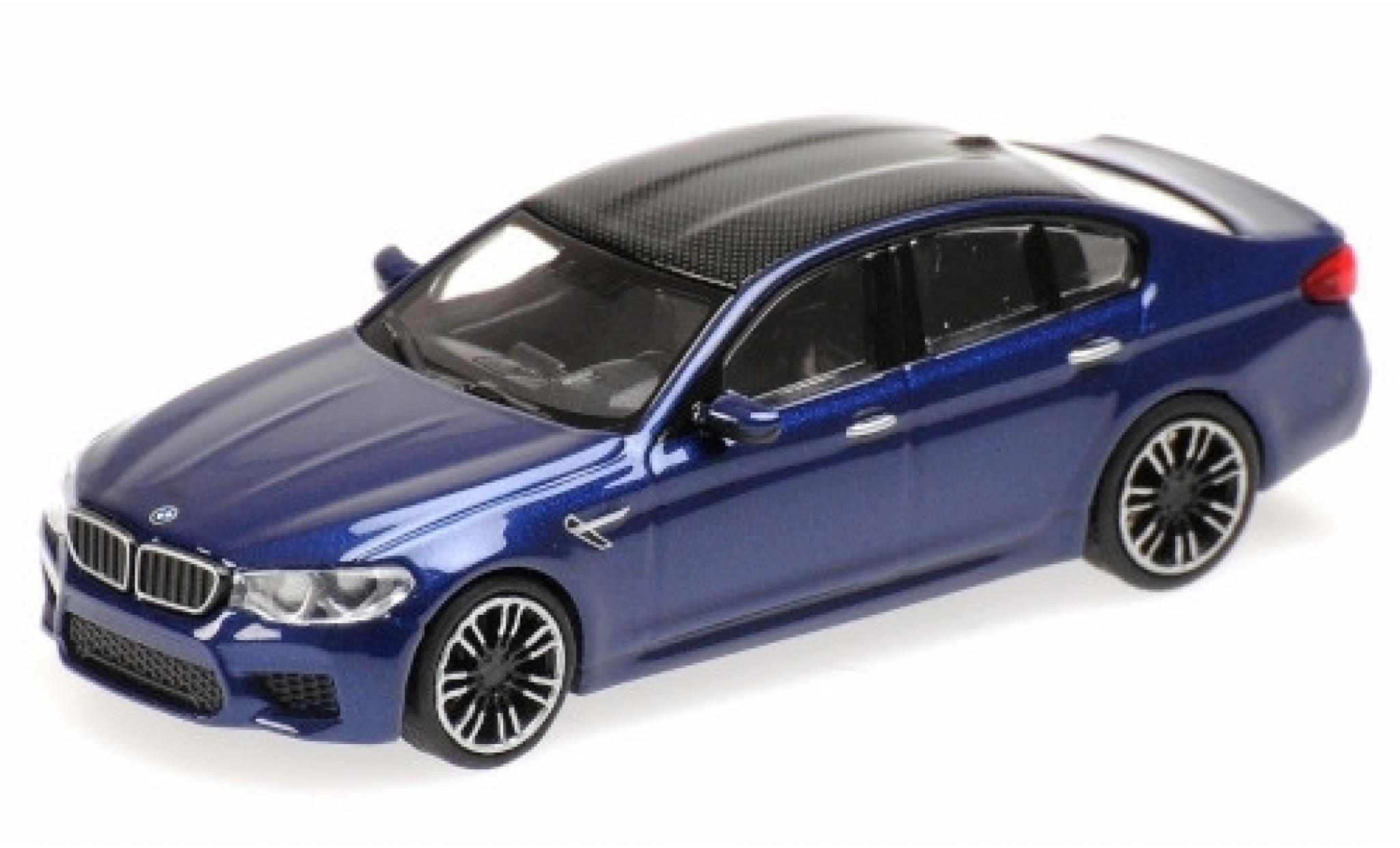 Bmw M5 1/87 Minichamps (F90) metallise bleue/carbon 2018