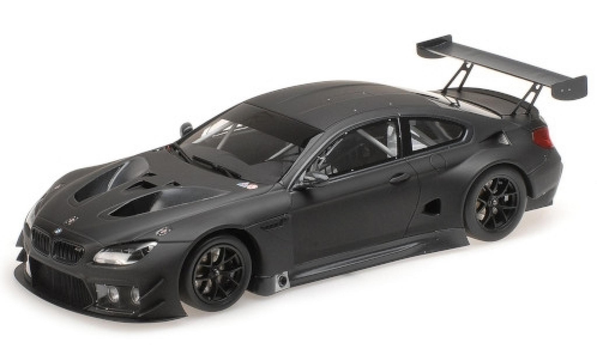 Bmw M6 1/18 Minichamps GT3 matt-noire 2016 Plain Body Version