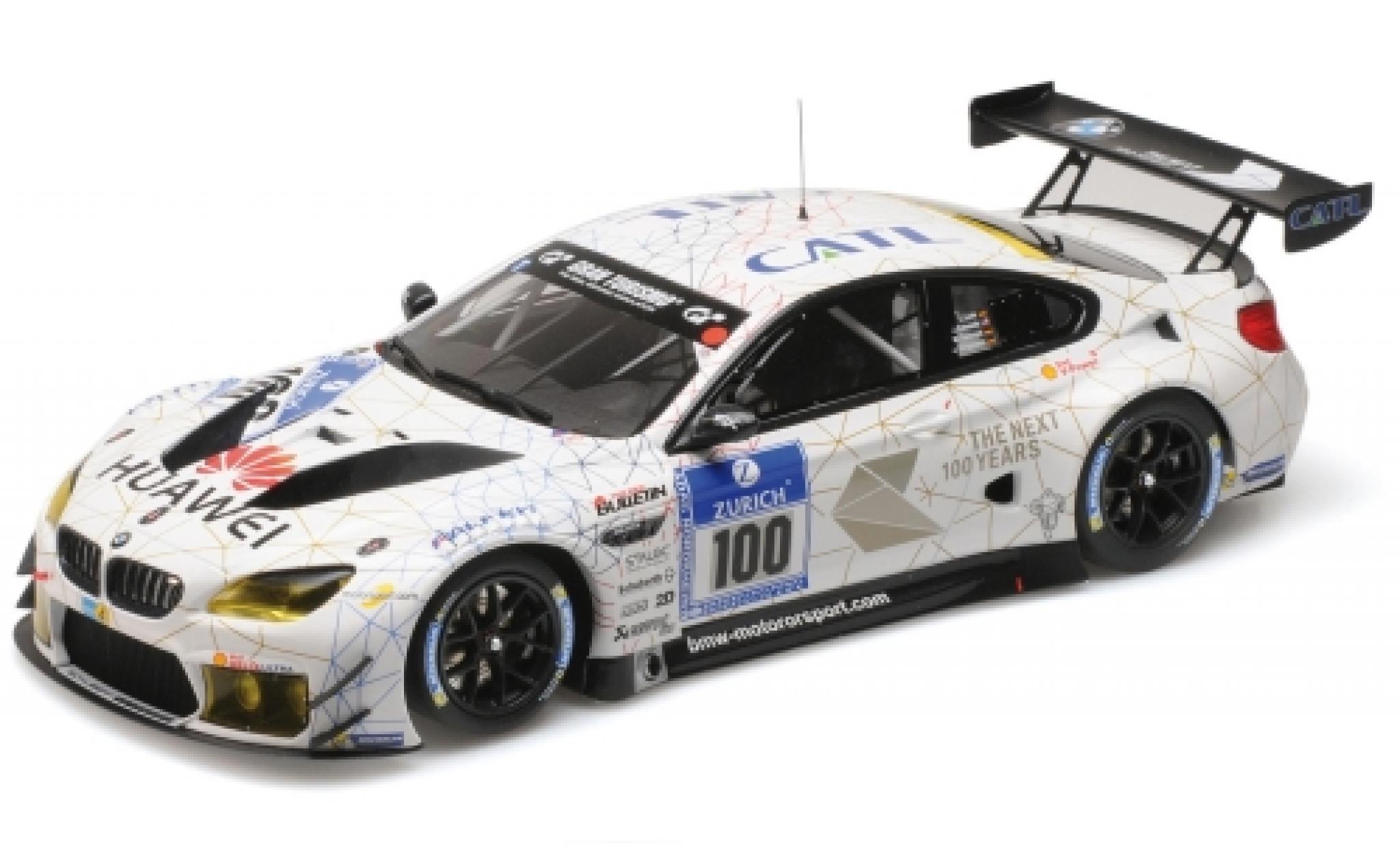 Bmw M6 1/18 Minichamps GT3 No.100 Schubert Motorsport CATL 24h Nürburgring 2016 J.Edwards/J.Klingmann/L.Luhr/M.Tomczyk