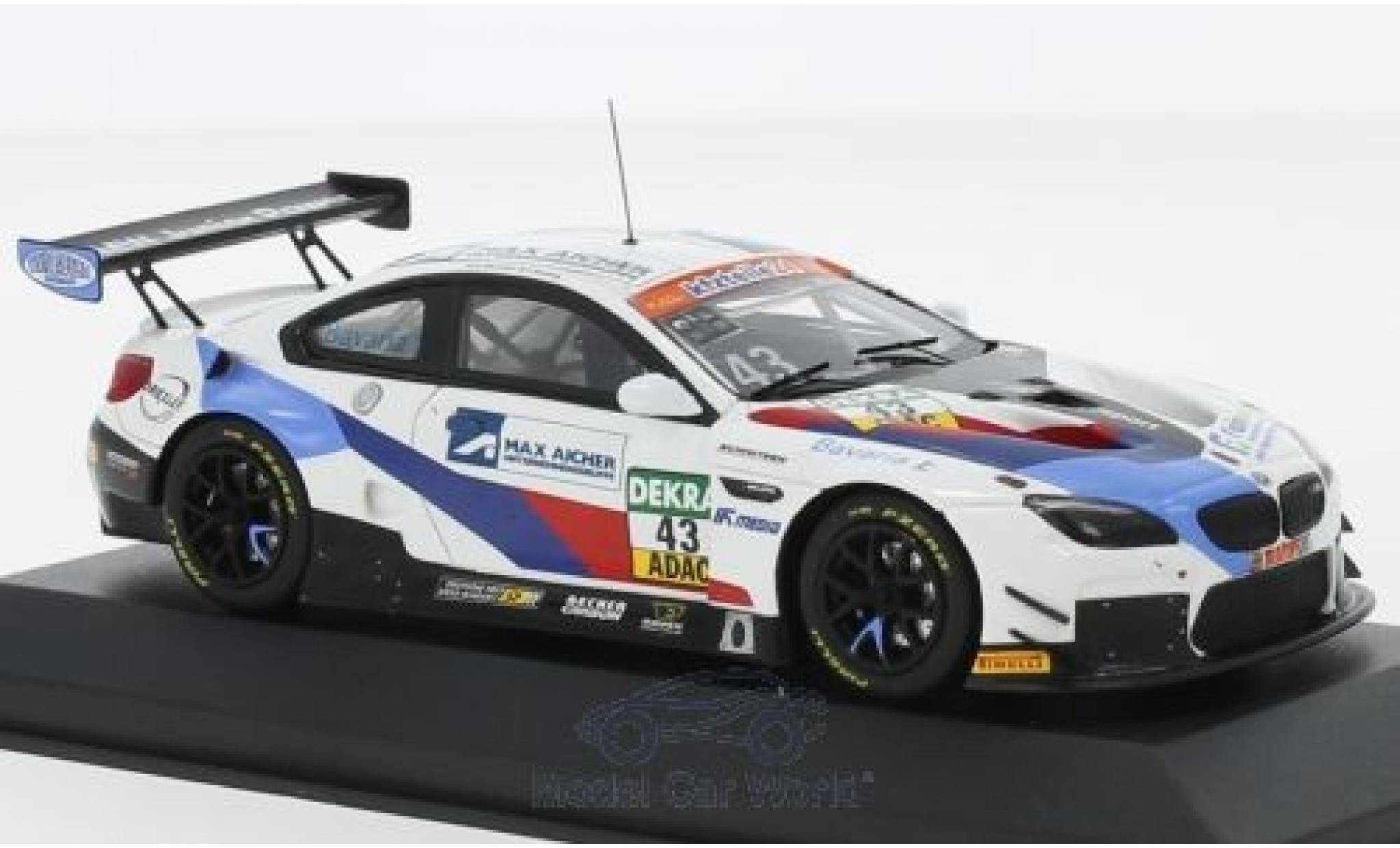 Bmw M6 1/43 Minichamps GT3 No.43 Schnitzer Motorsport ADAC GT Masters 2018 D.Marschall/V.Bouveng