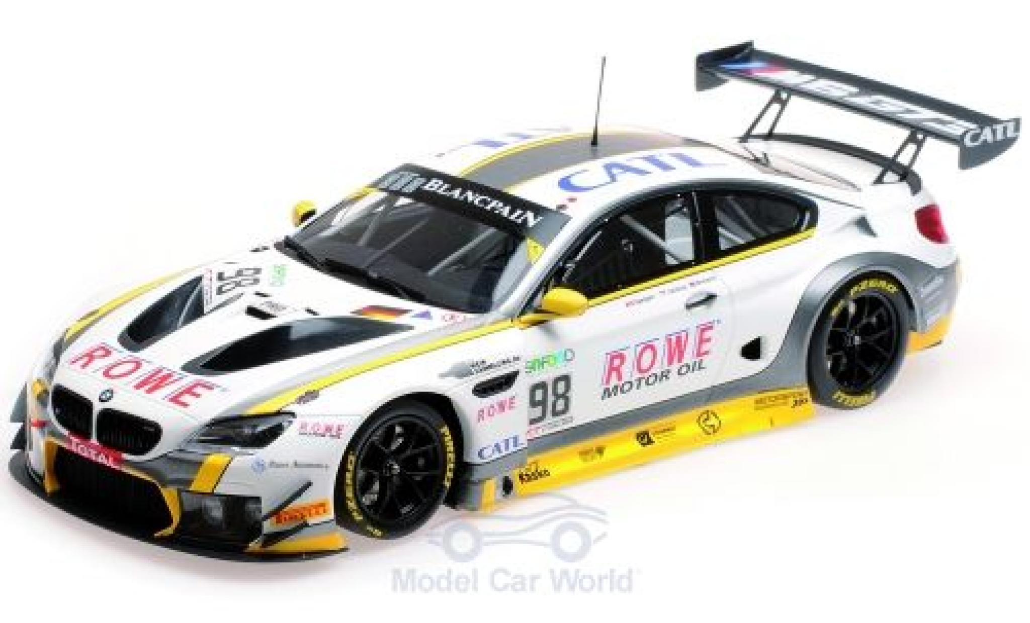 Bmw M6 1/18 Minichamps GT3 No.98 Rowe Racing 24h Spa 2017 T.Blomqvist/N.Catsburg/B.Spengler