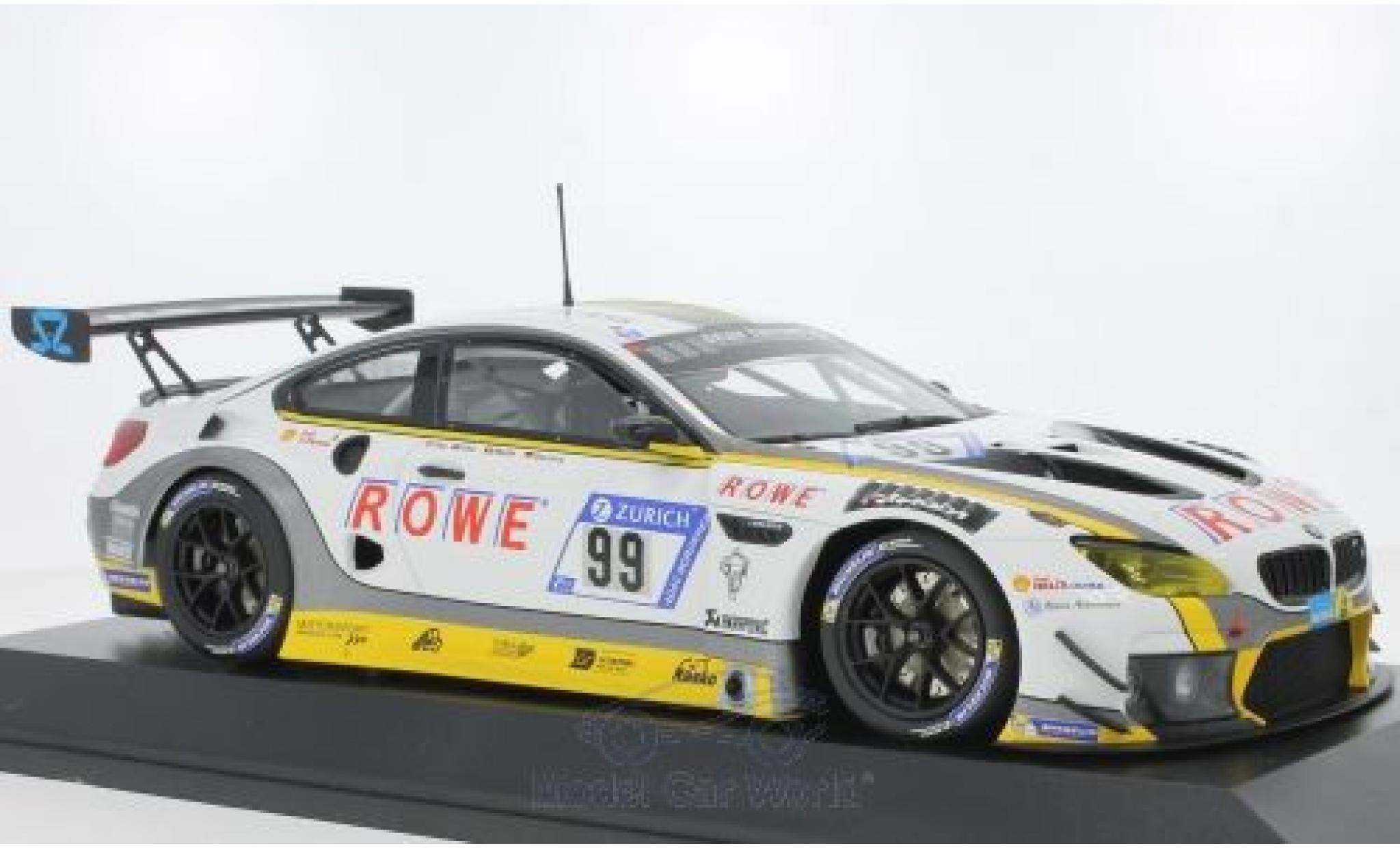 Bmw M6 1/18 Minichamps GT3 No.99 Rowe Racing 24h Nürburgring 2017 P.Eng/A.Sims/M.Martin/M.Basseng