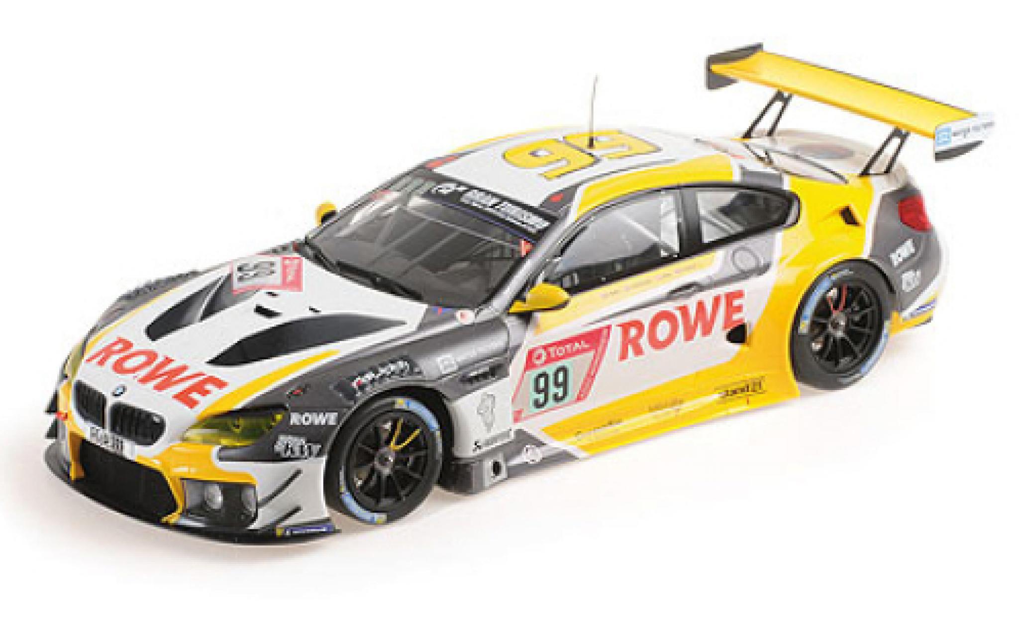 Bmw M6 1/18 Minichamps GT3 No.99 Rowe Racing 24h Nürburgring 2020 A.Sims/N.Catsburg/N.Yelloly