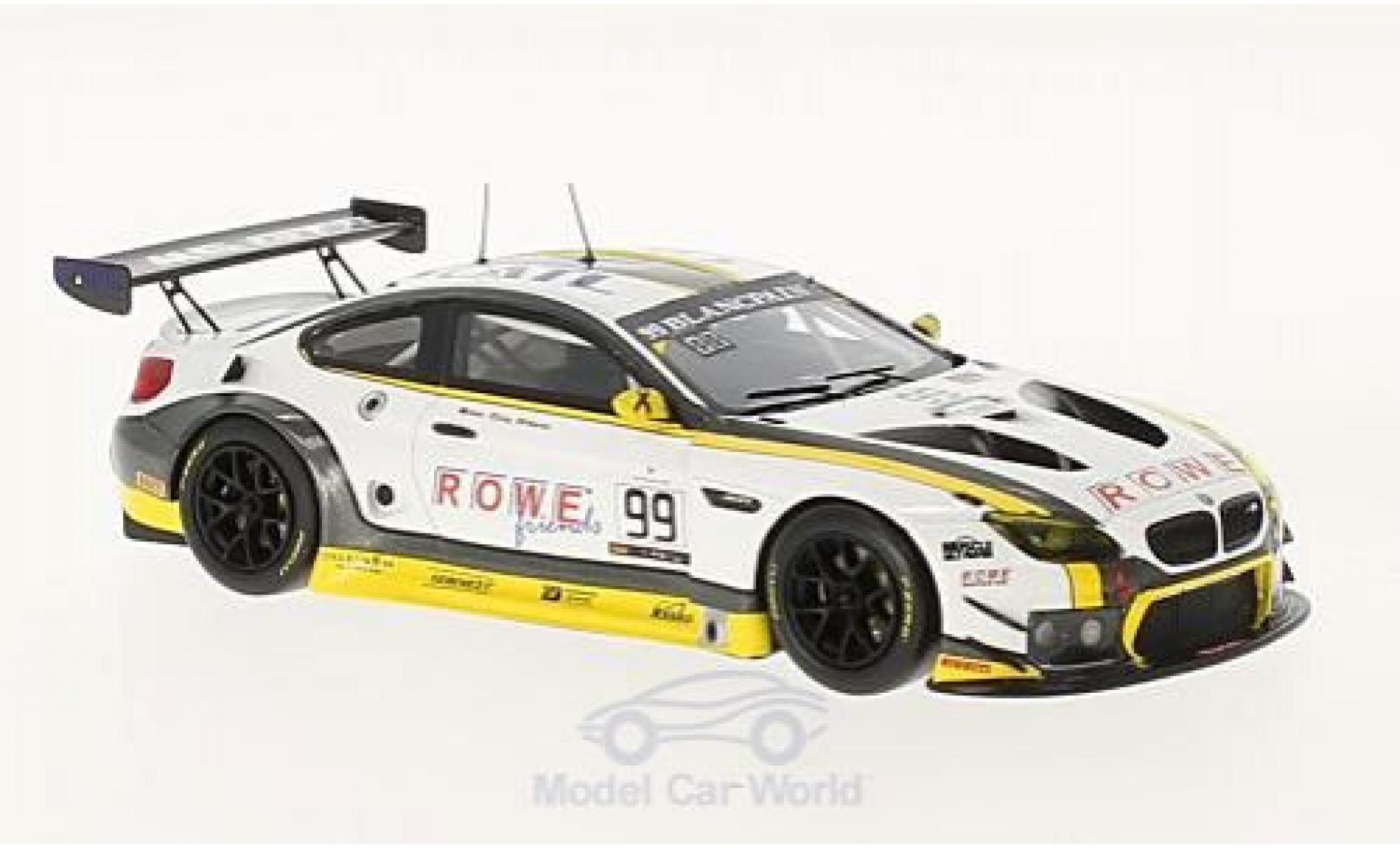 Bmw M6 1/43 Minichamps BMW GT3 No.99 Rowe Racing 24h Spa 2016 M.Martin/P.Eng/A.Sims