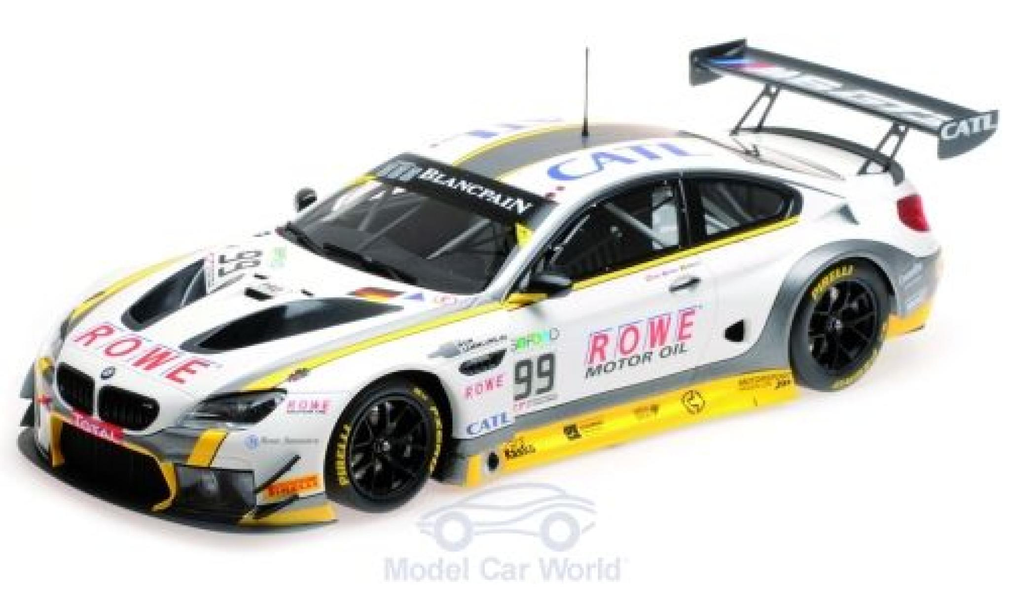Bmw M6 1/18 Minichamps GT3 No.99 Rowe Racing 24h Spa 2017 P.Eng/M.Martin/A.Sims