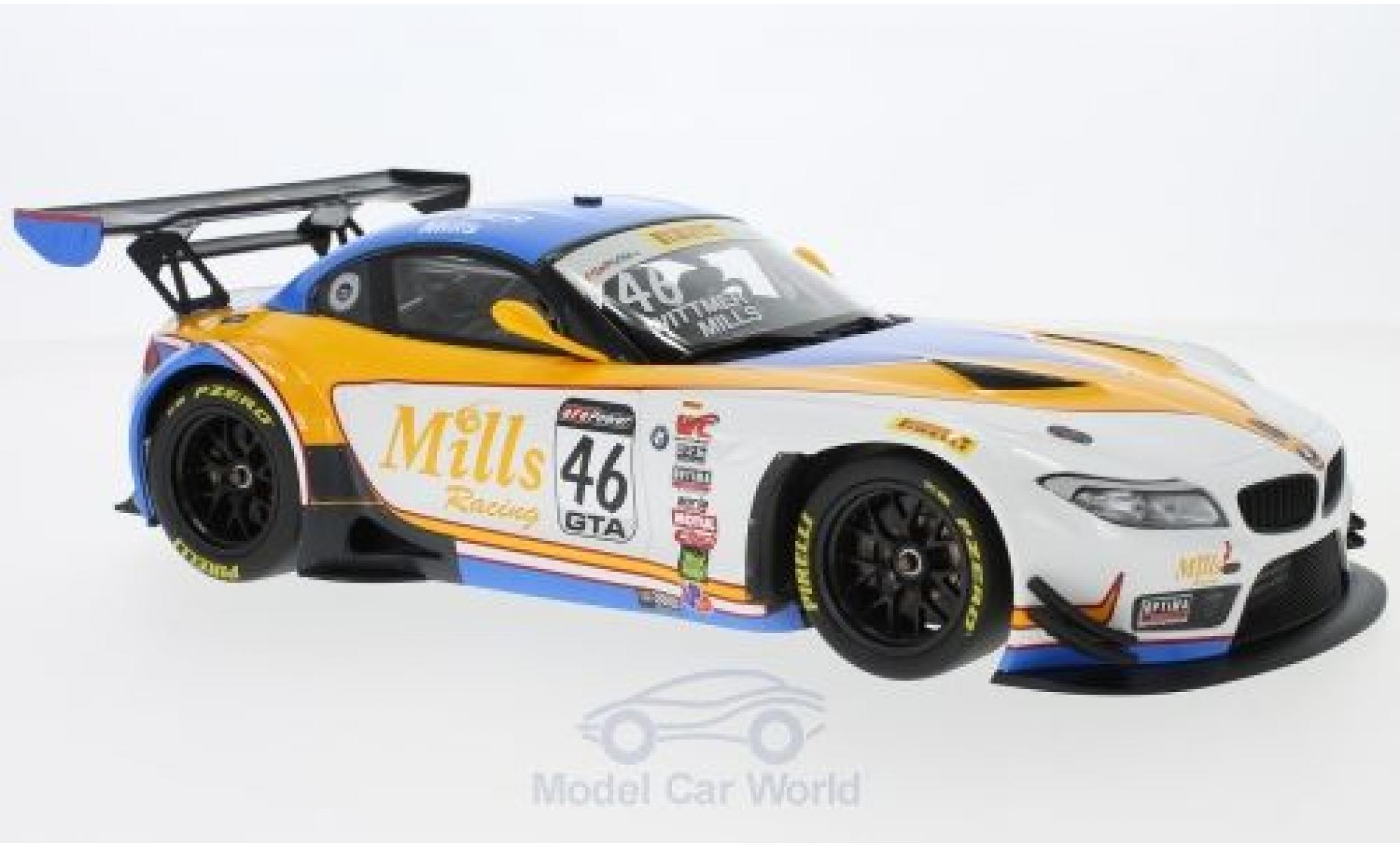 Bmw Z4 E89 1/18 Minichamps GT3  No.46 Mills Racing Pirelli World Challenge 2016 K. Wittmer/M.Mills