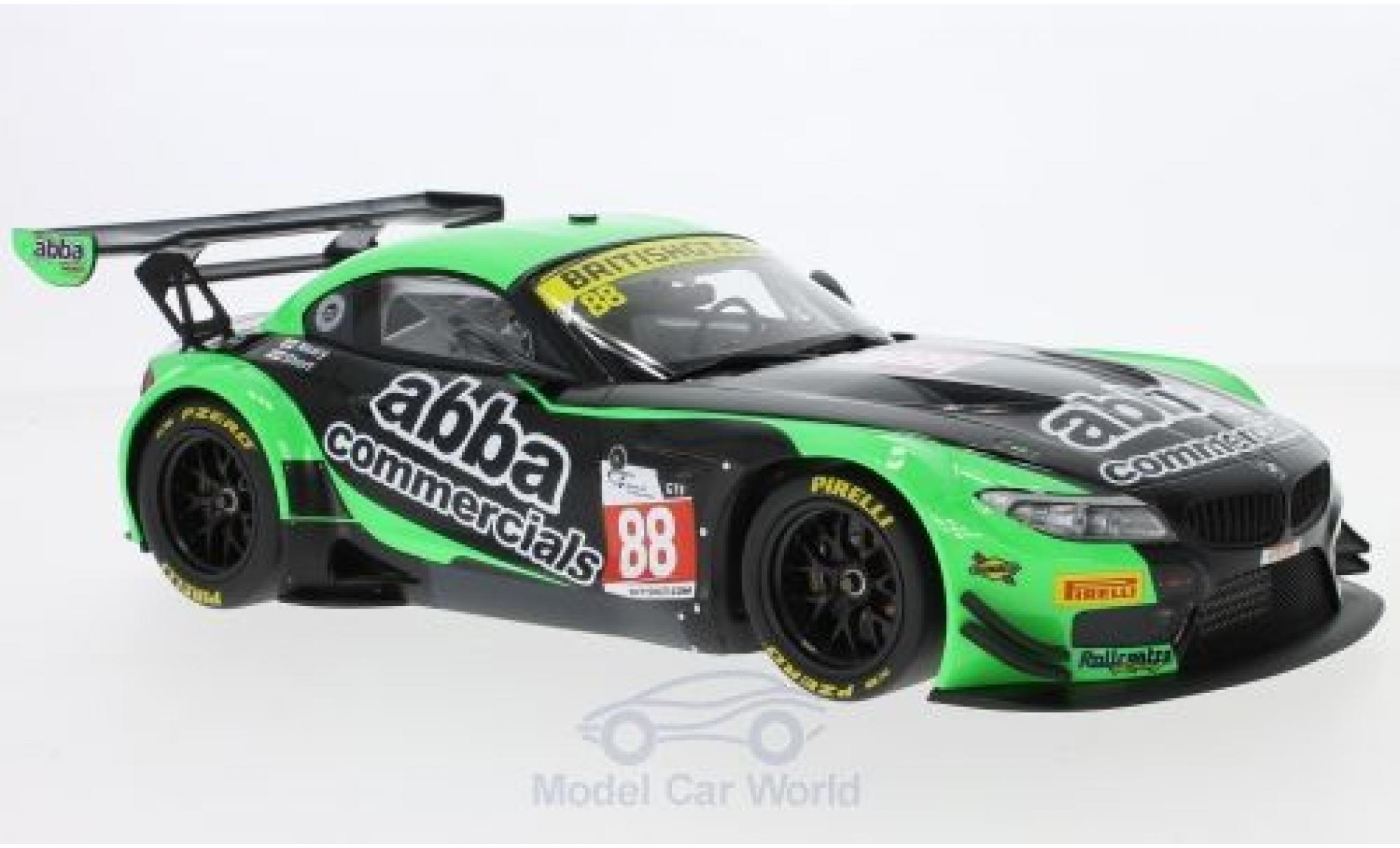 Bmw Z4 E89 1/18 Minichamps BMW GT3 (E89) No.88 ABBA with Rollcentre Racing British GT Championship 2016 R.Neary/M.Short