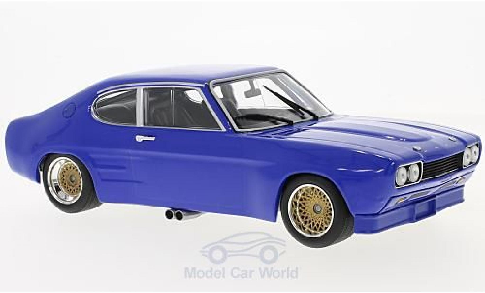 Ford Capri 2600 1/18 Minichamps RS bleue 1970