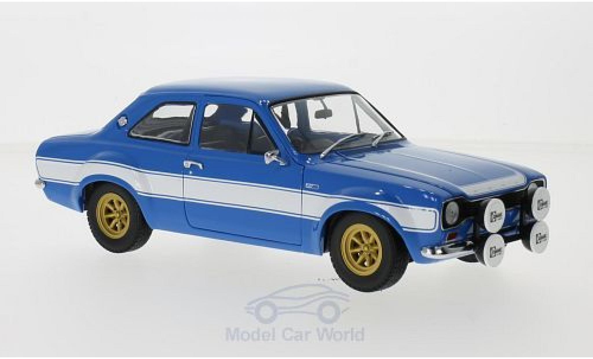 Ford Escort 1/18 Minichamps I 1600 FAV bleue/blanche 1970