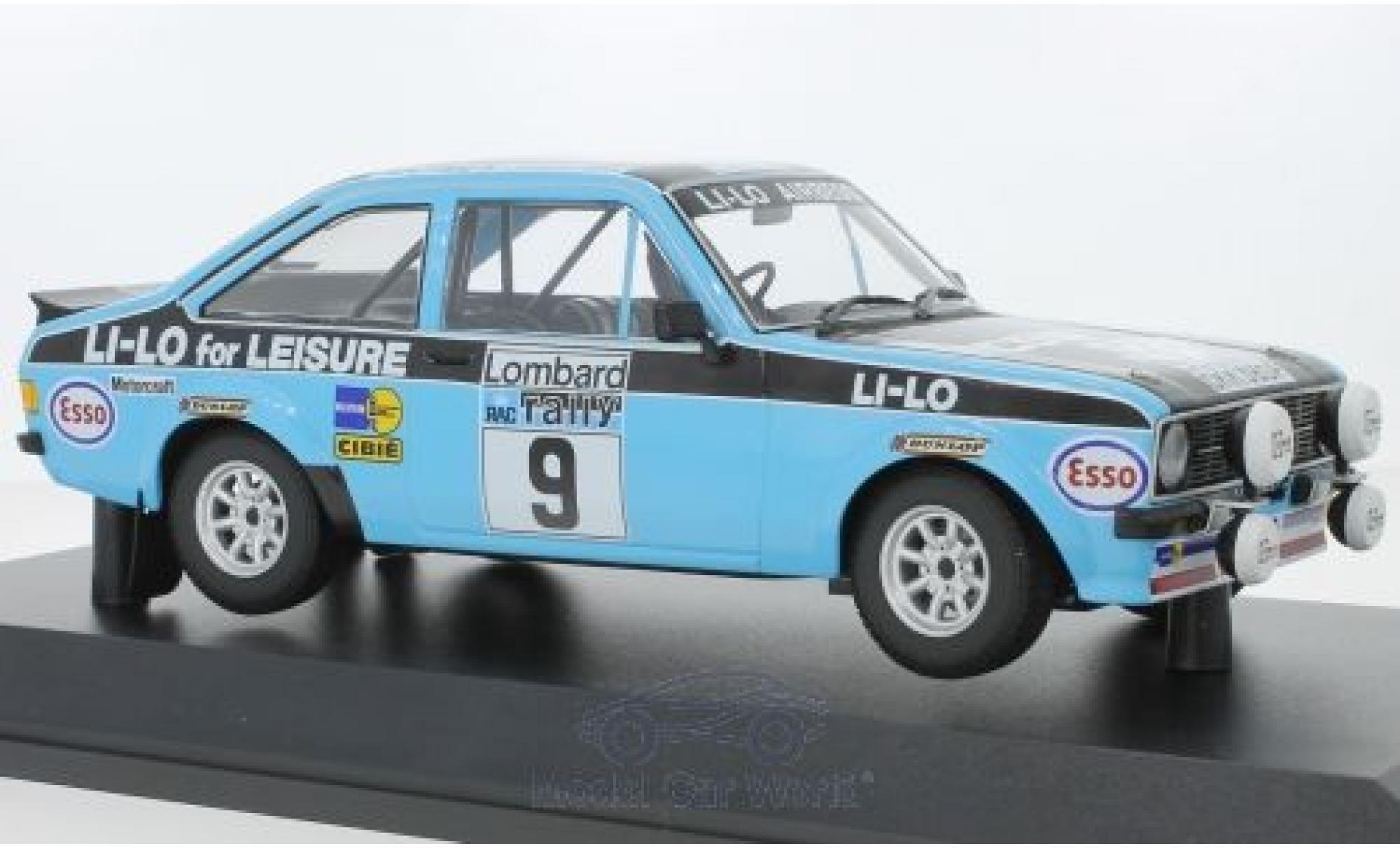 Ford Escort 1/18 Minichamps RS 1800 No.9 Li-Lo Equipe Esso Rallye RAC Lombard 1978 R.Clark/N.Wilson