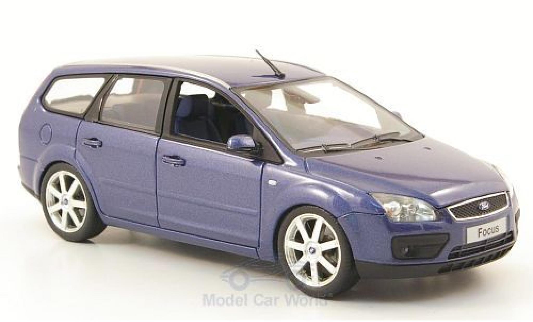 Ford Focus 1/43 Minichamps Turnier metallise bleue 2006