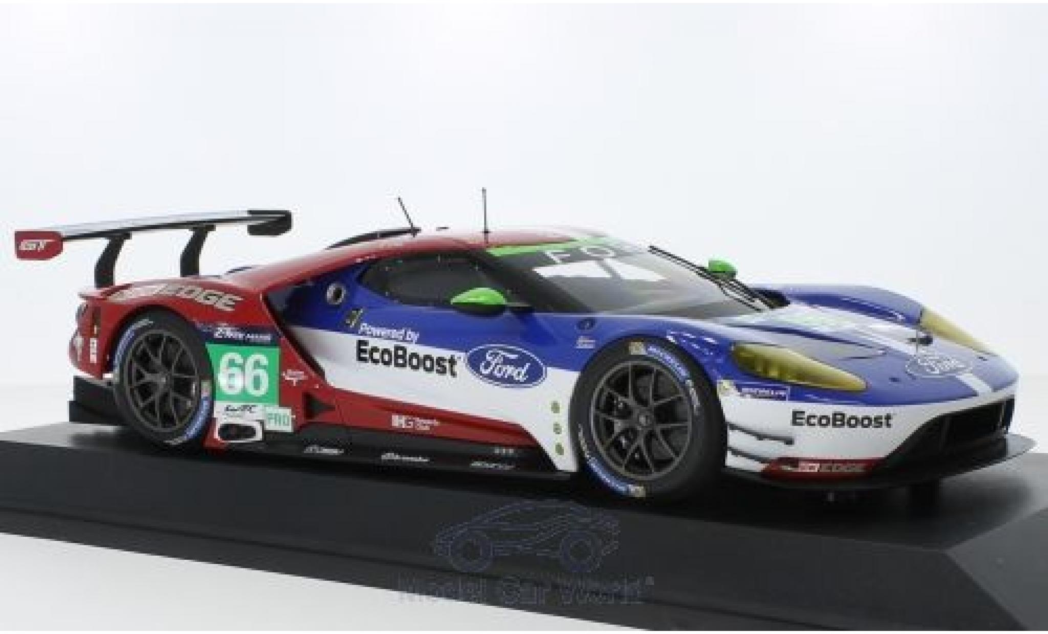 Ford GT 1/18 Minichamps No.66 Chip Ganassi Racing UK 24h Le Mans 2016 O.Pla/S.Mücke/B.Johnson