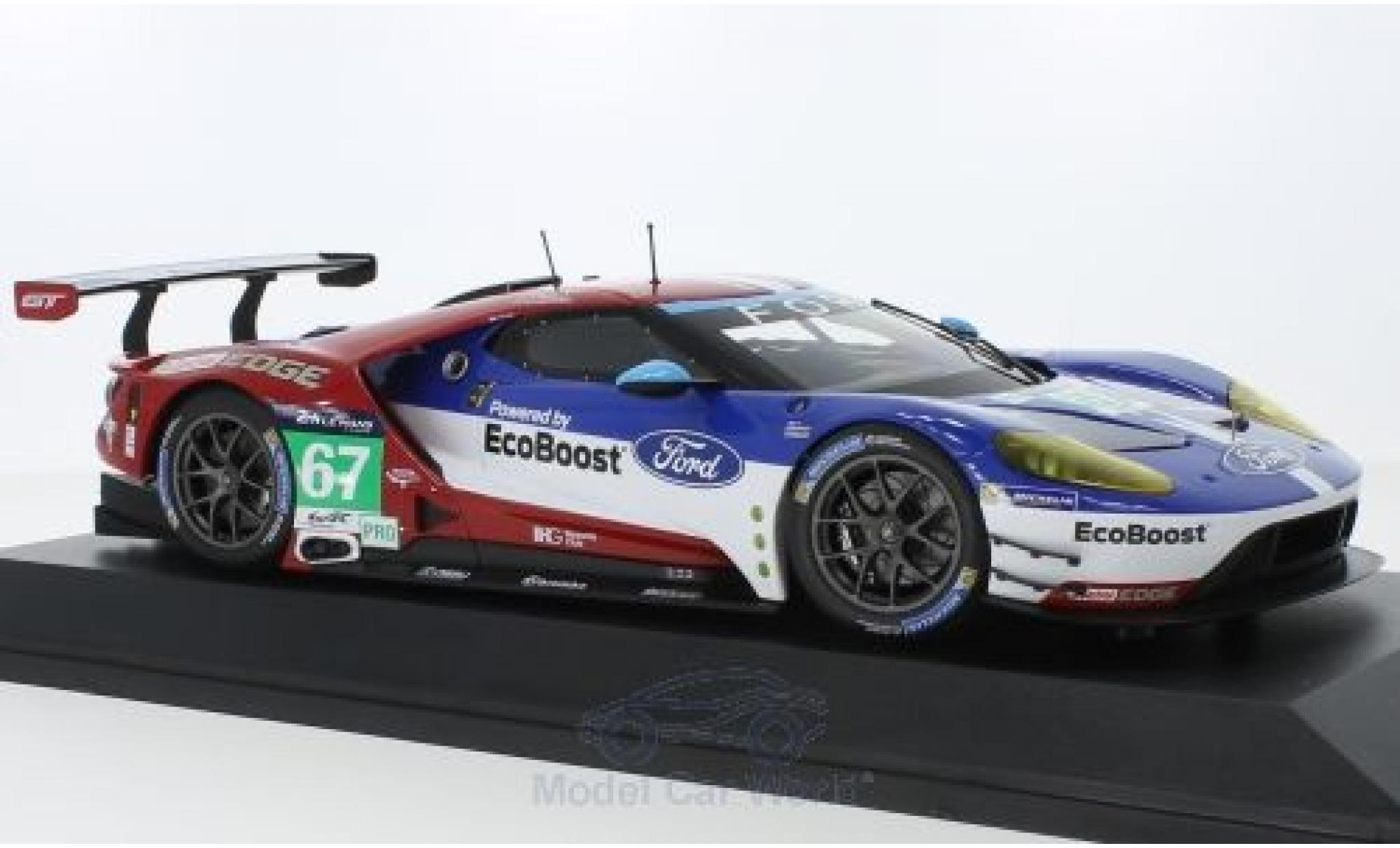 Ford GT 1/18 Minichamps No.67 Chip Ganassi Racing UK 24h Le Mans 2016 M.Franchitti/A.Priaulx/H.Tincknell